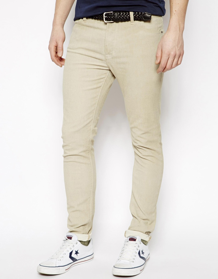 Where to get beige skinny jeans – Global fashion jeans collection