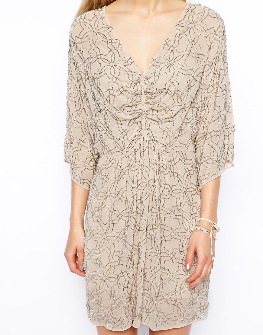 Lyst Needle Amp Thread Embellished Geo Dress With Kimono
