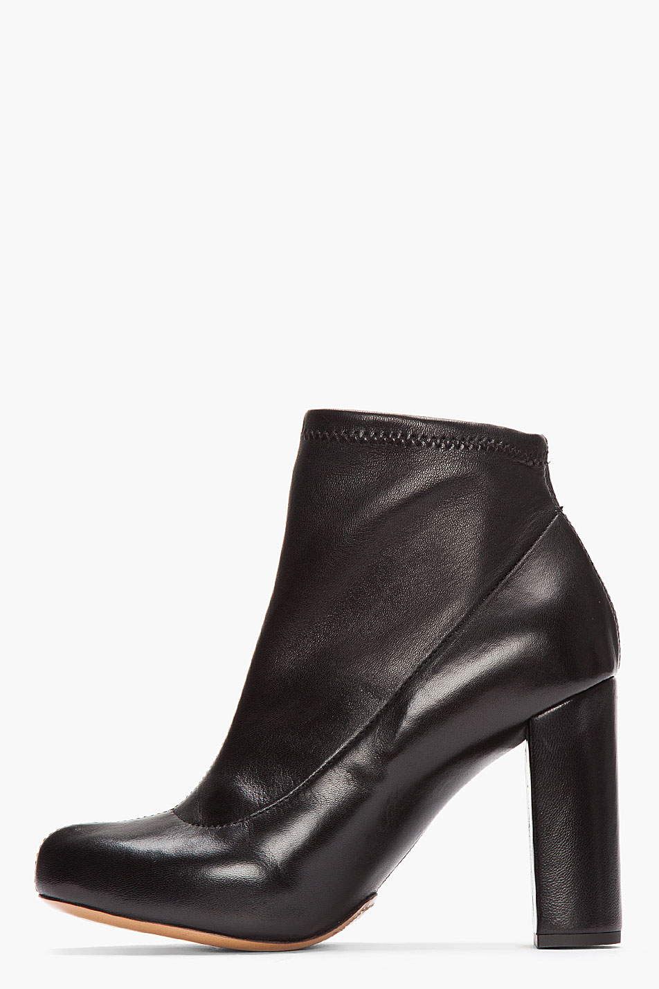 Chloé Leather Rounded-Toe Ankle Boots discount sneakernews FRLCnfq