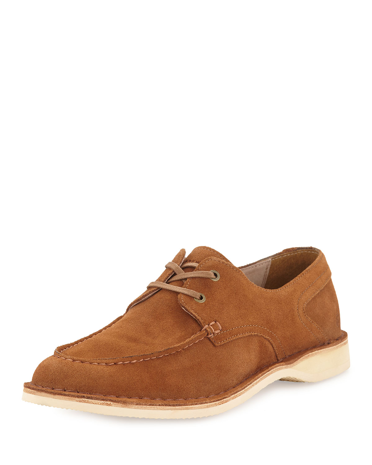 Lyst Andrew Marc Dorchester Suede Lace Up Oxford In Brown