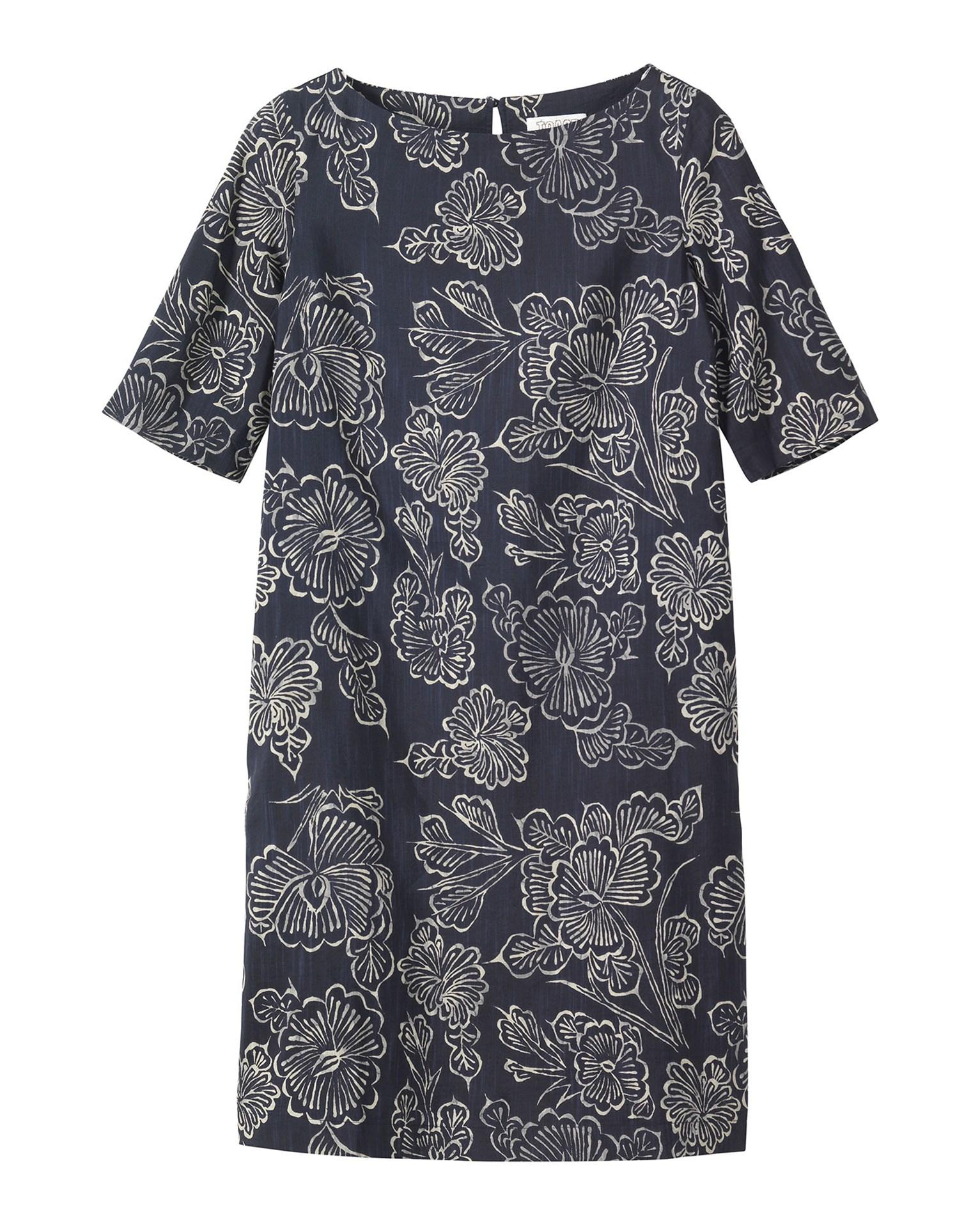 Toast Batik Print Dress In Blue