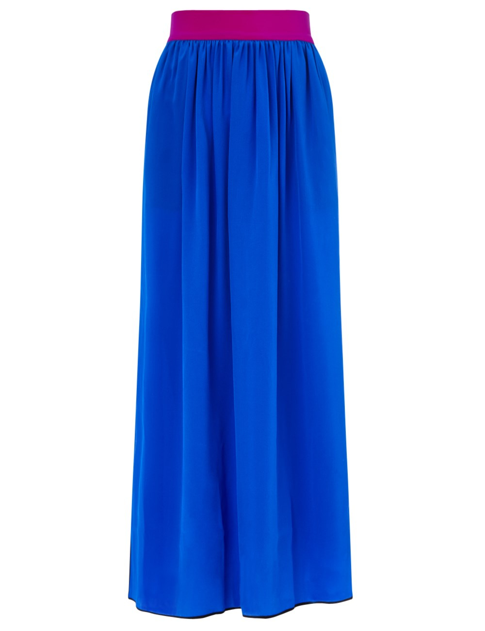 roksanda royal blue silk despina skirt in multicolor lyst