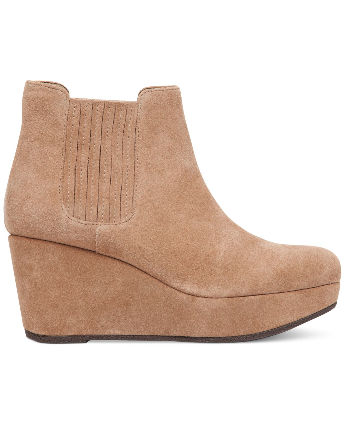 Bcbgeneration Karol Platform Wedge Booties In Beige Lyst