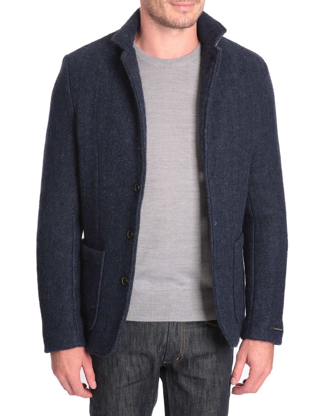 scotch and soda boiled wool jacket with neoprene lining in. Black Bedroom Furniture Sets. Home Design Ideas