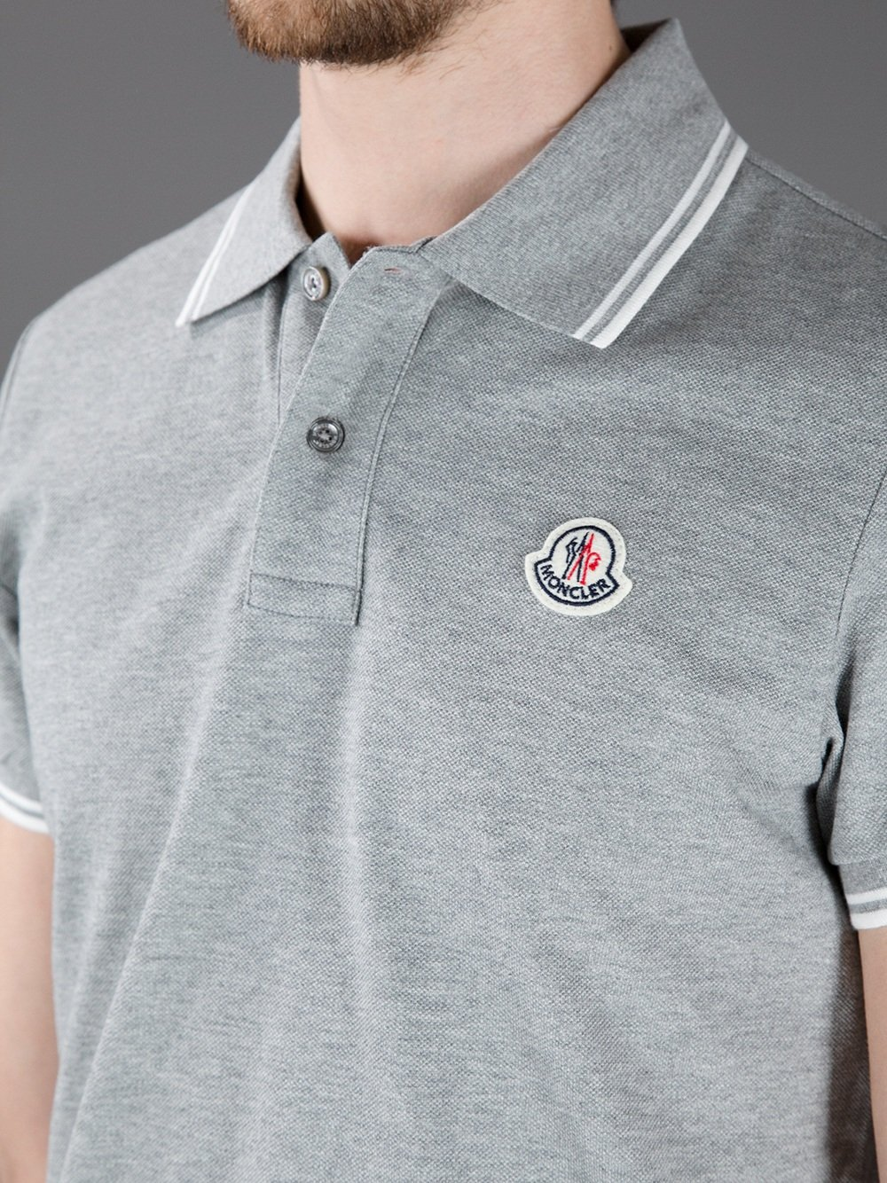 moncler grey mens polo