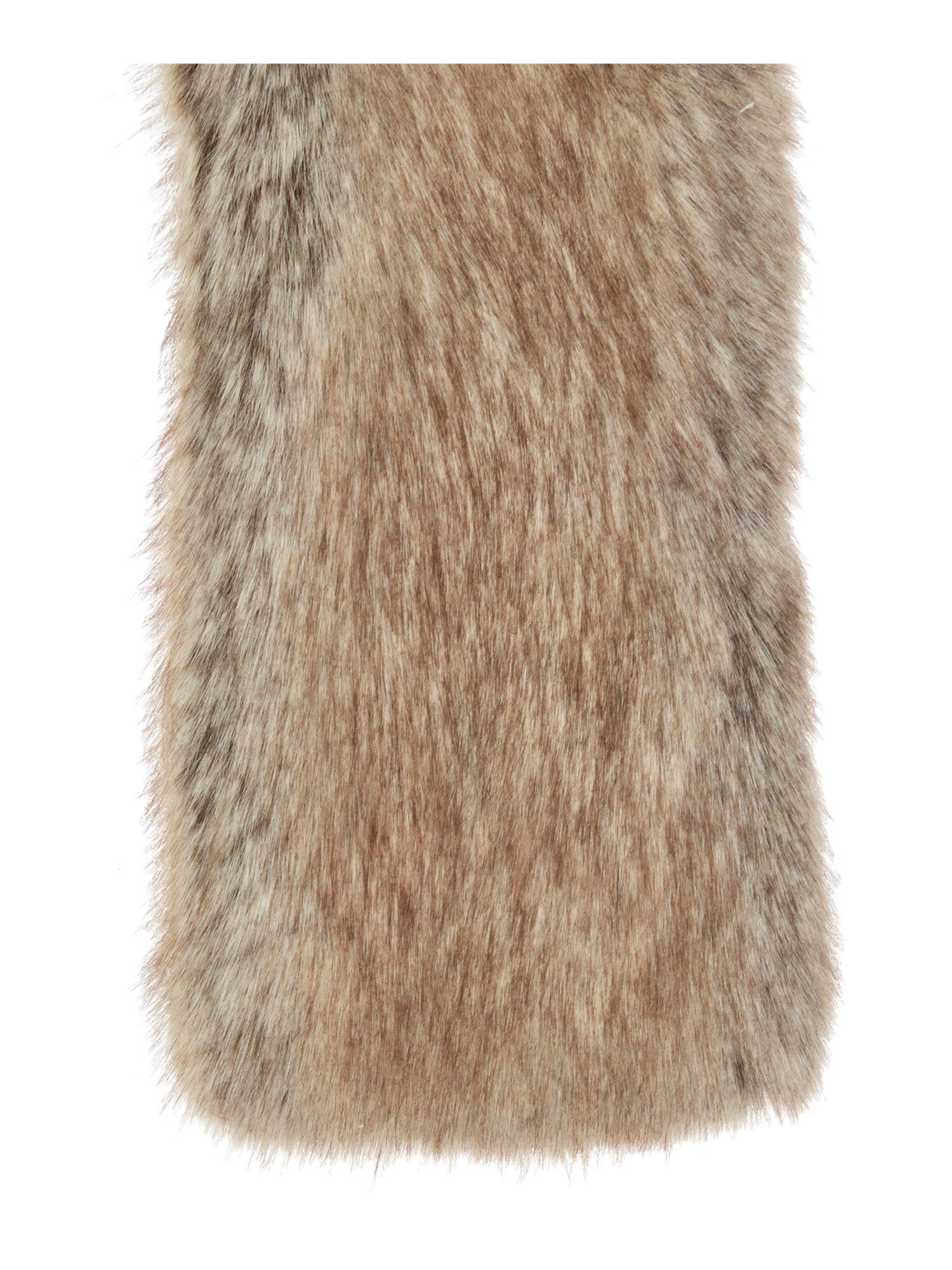 helen tippet faux fur scarf in brown lyst