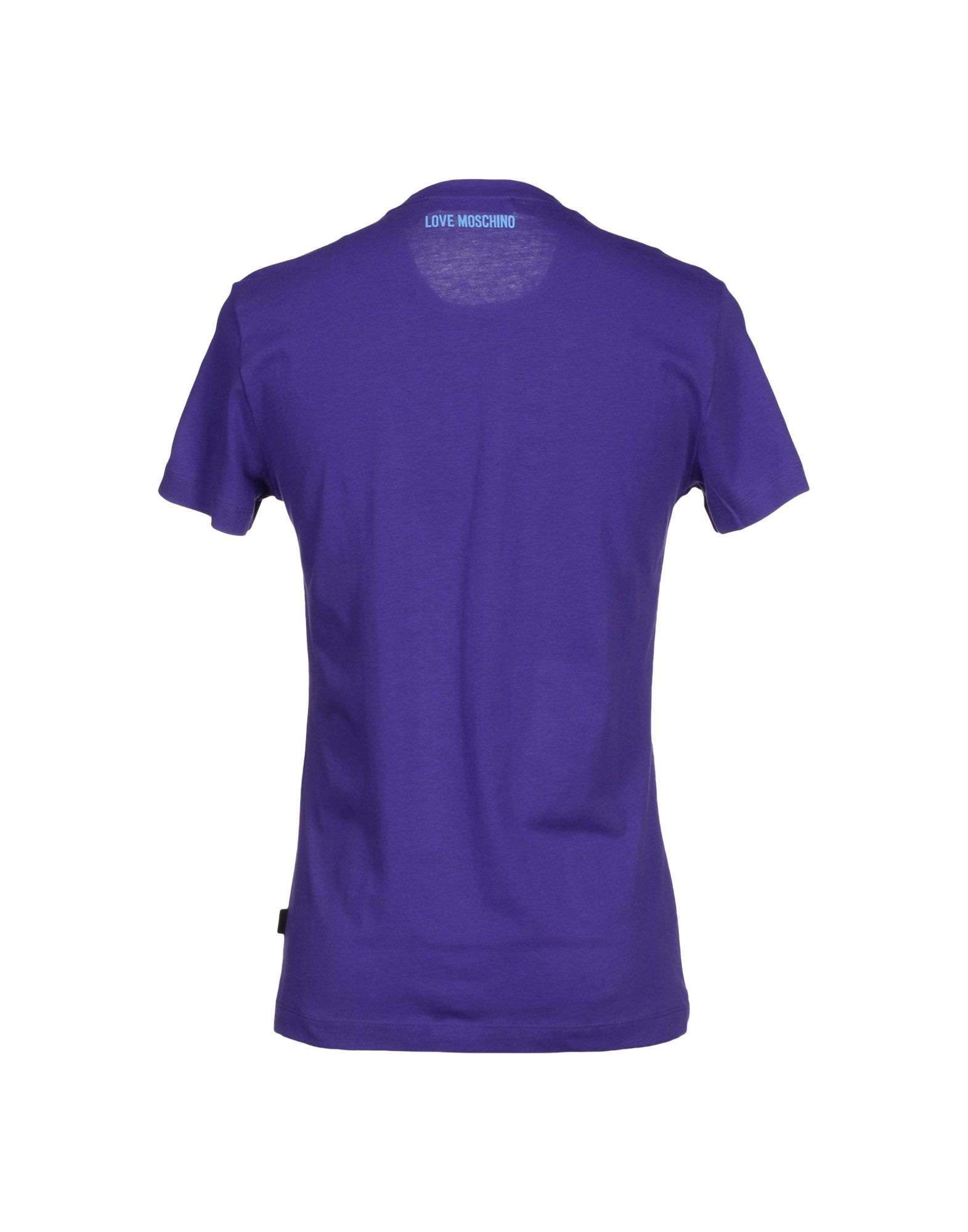 love moschino t shirt in purple for men lyst. Black Bedroom Furniture Sets. Home Design Ideas