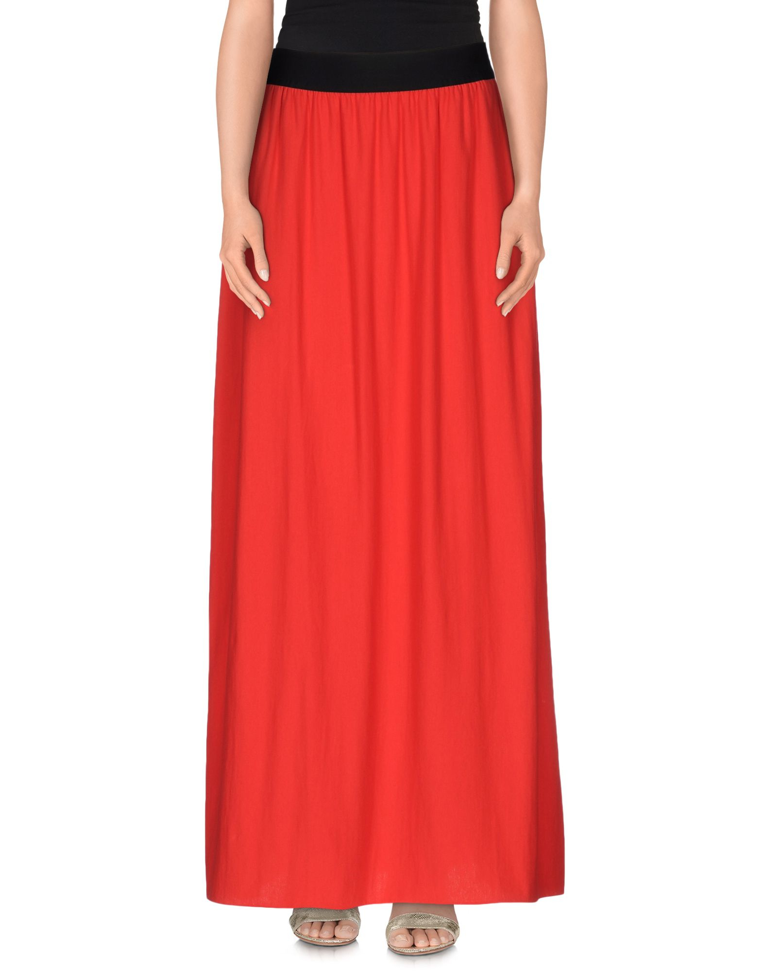 Lyst - Cycle Long Skirt in Red