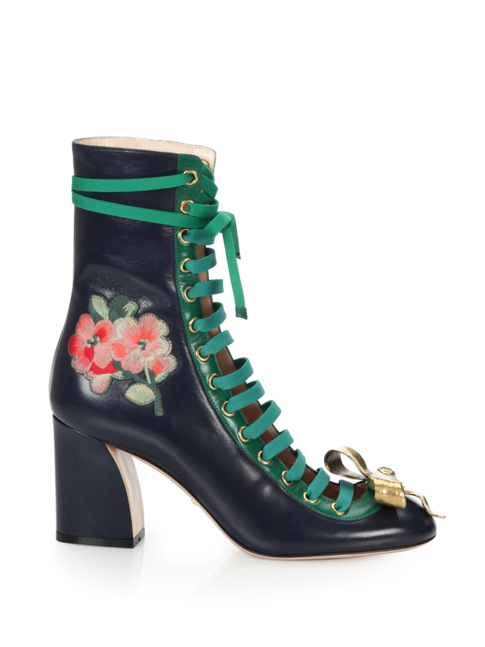 gucci lace boots