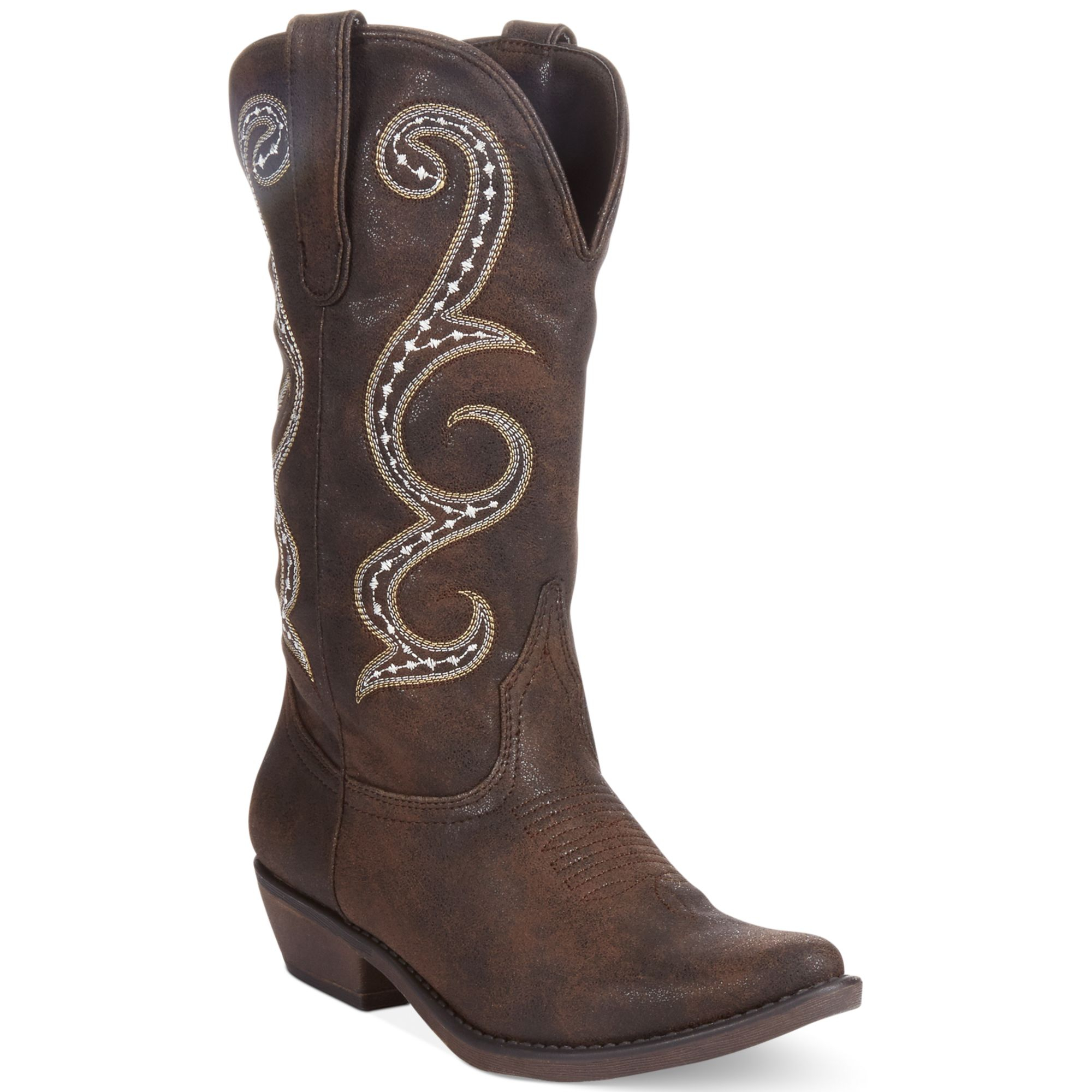 american rag dawnn western boots only at macy s in brown