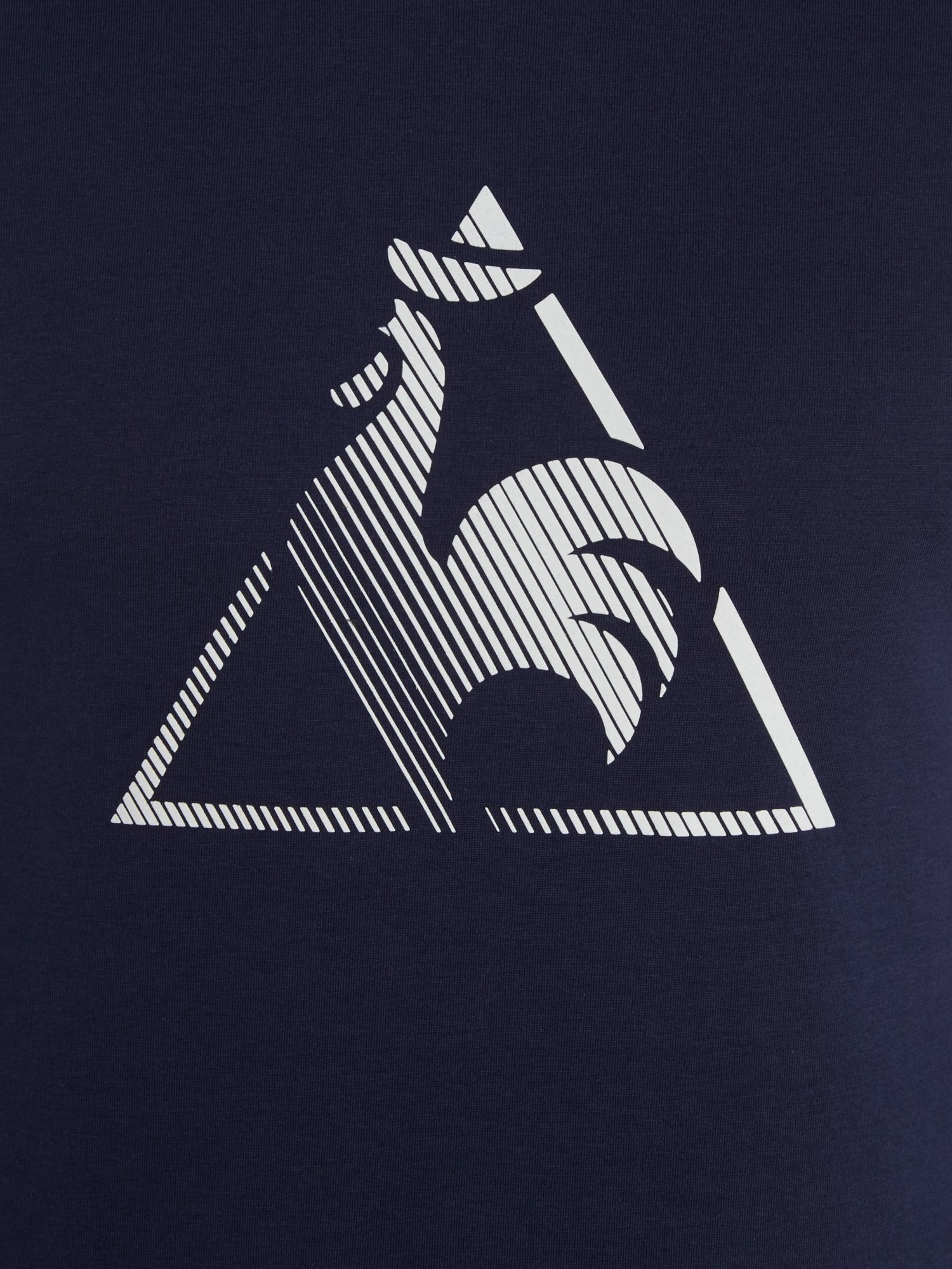 lyst le coq sportif logo crew neck regular fit t shirt in blue for men