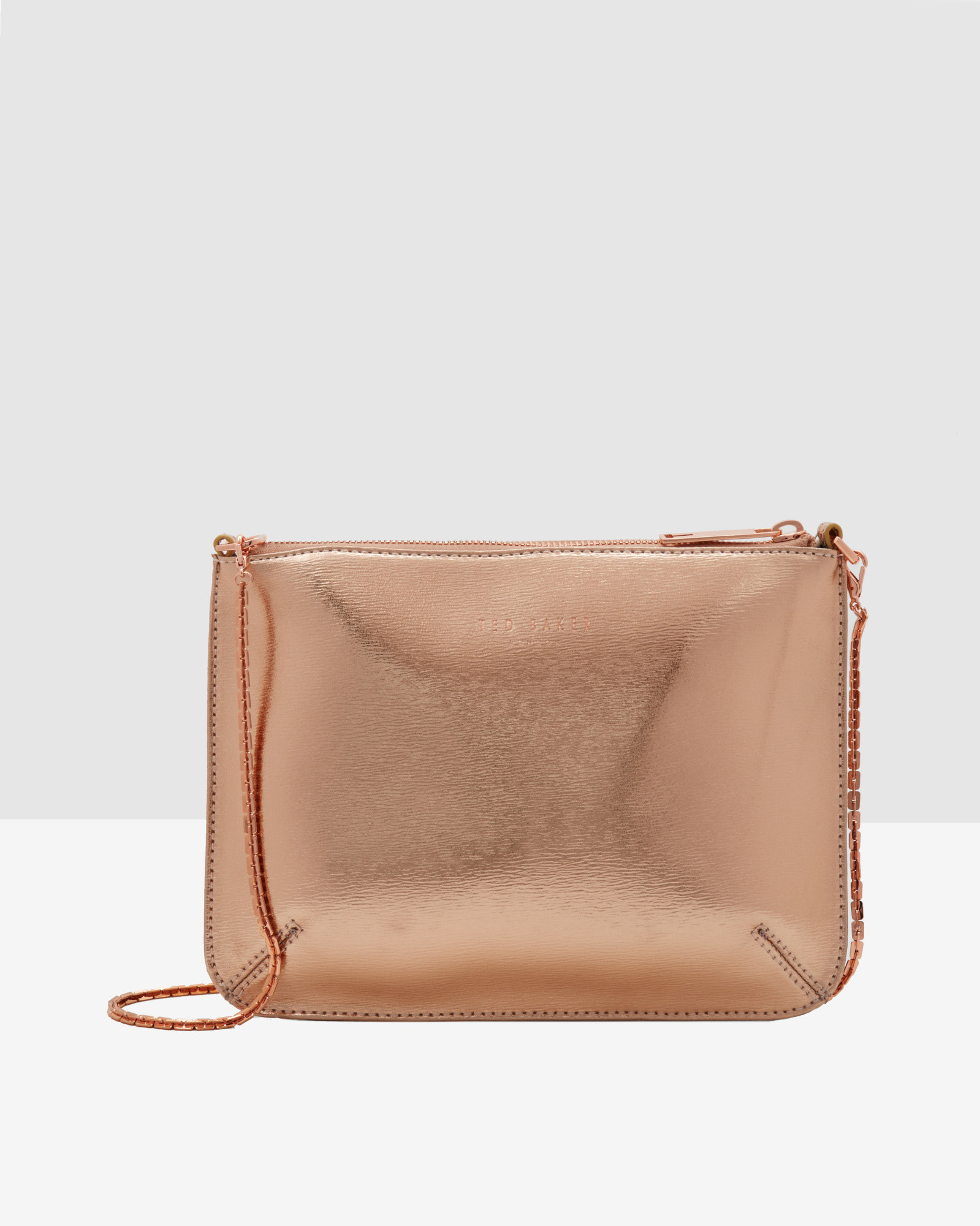 932bf76a79 Ted Baker Crosshatch Leather Clutch Bag in Pink - Lyst