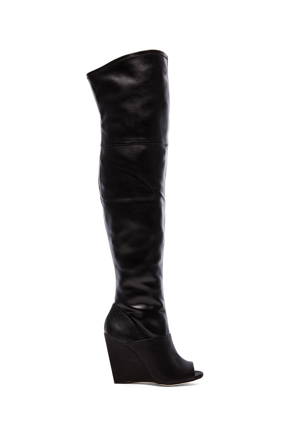 774eac7c6bad Lyst - BCBGMAXAZRIA Gian Open Toe Over The Knee Boots in Black