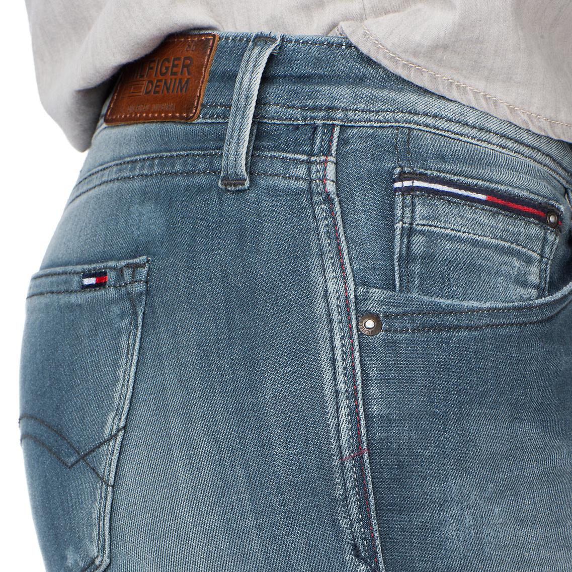 tommy hilfiger natalie skinny fit jeans in blue lyst. Black Bedroom Furniture Sets. Home Design Ideas