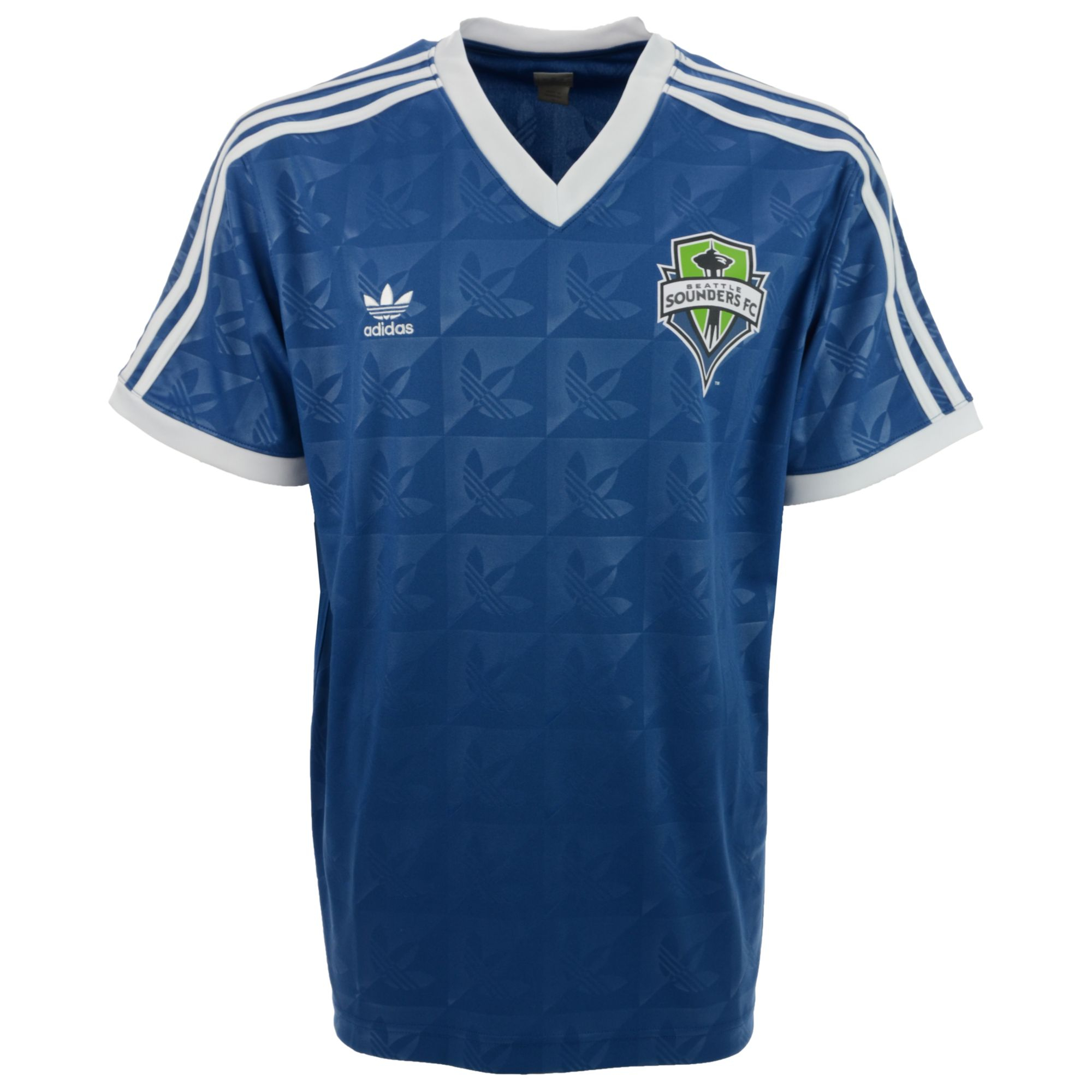 Adidas seattle sounders fc logoprint t shirt in blue for for Seattle t shirt printing