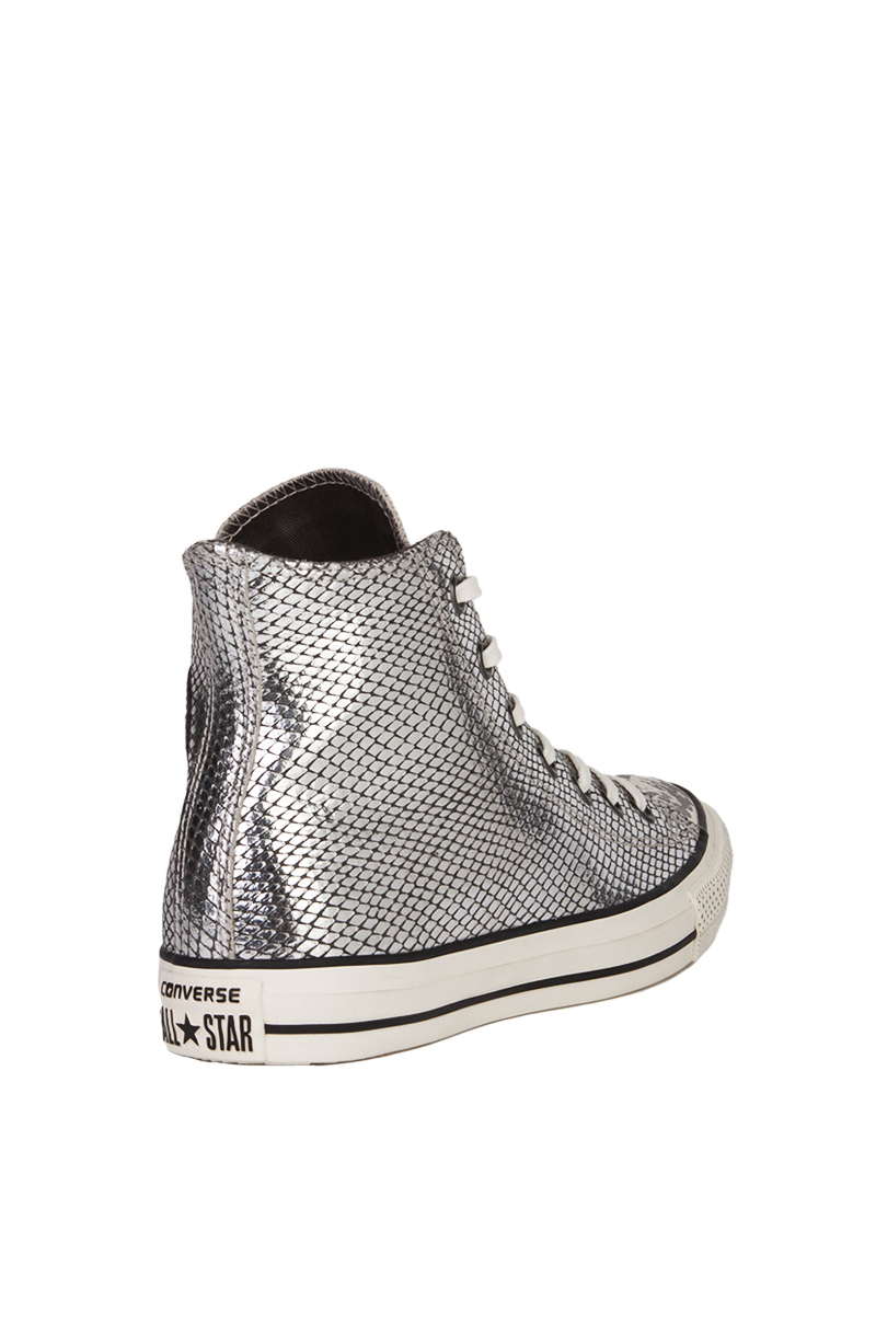 e3526dd2ebf Lyst - Converse Chuck Taylor All Star Leather Snake-Embossed High ...