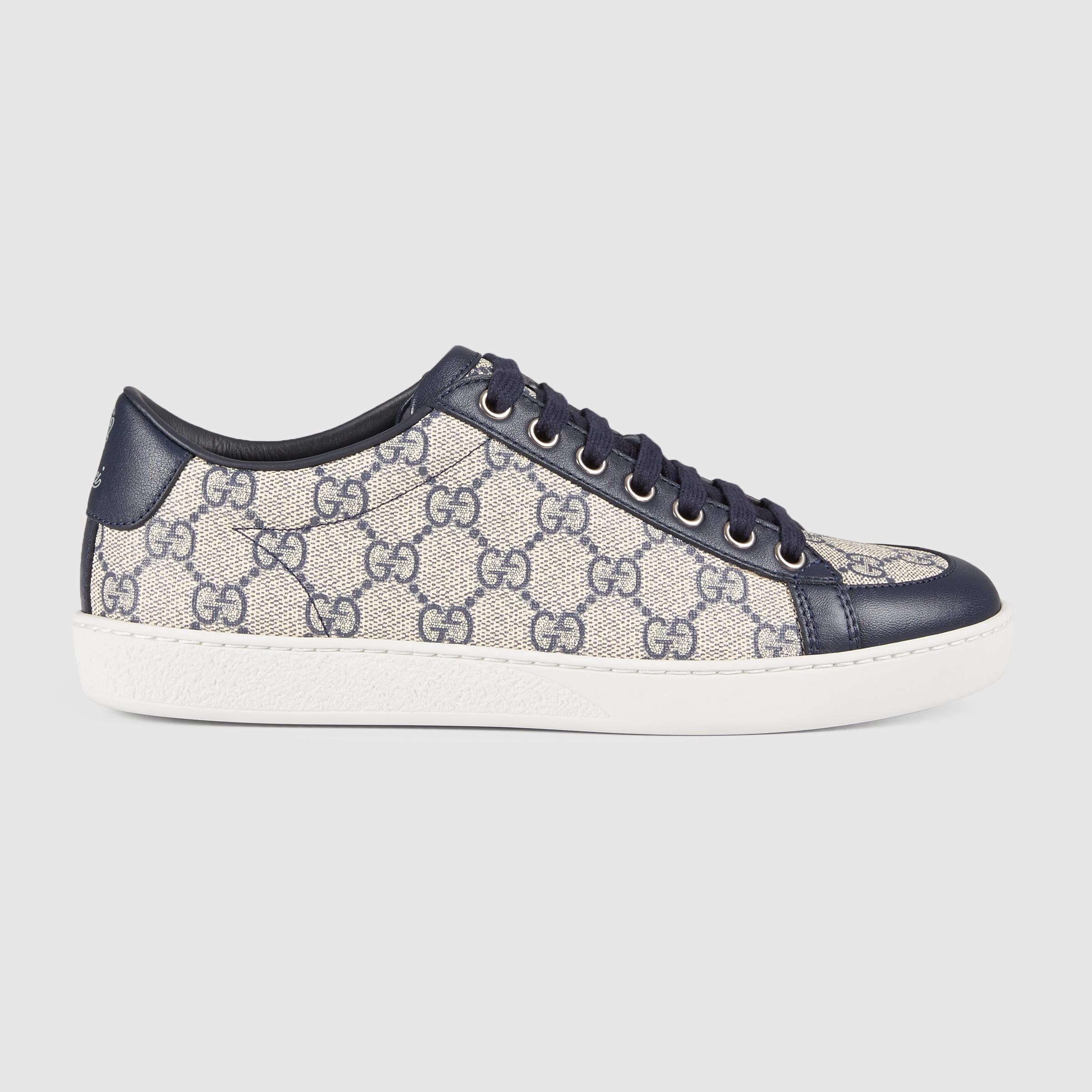 95ce977410 Gucci Blue Brooklyn GG Supreme Sneaker