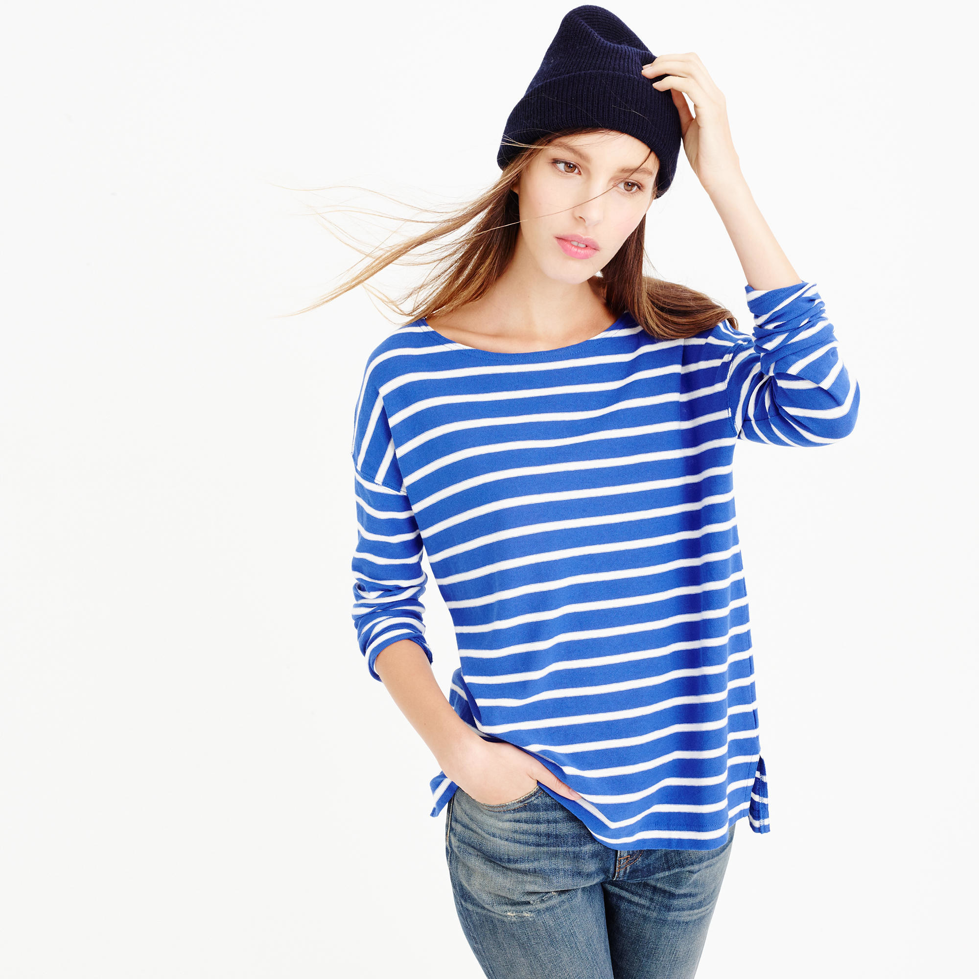 deck striped t shirt in blue bright ocean salt lyst