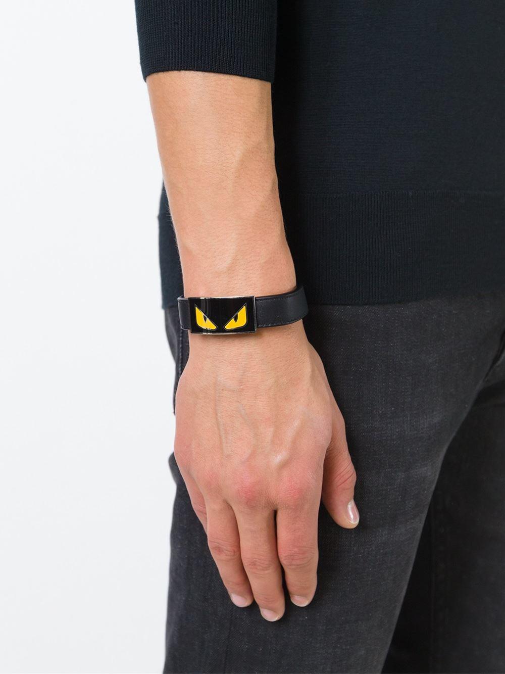 e634977d0c2f Fendi Bag Bugs Bracelet in Black for Men - Lyst