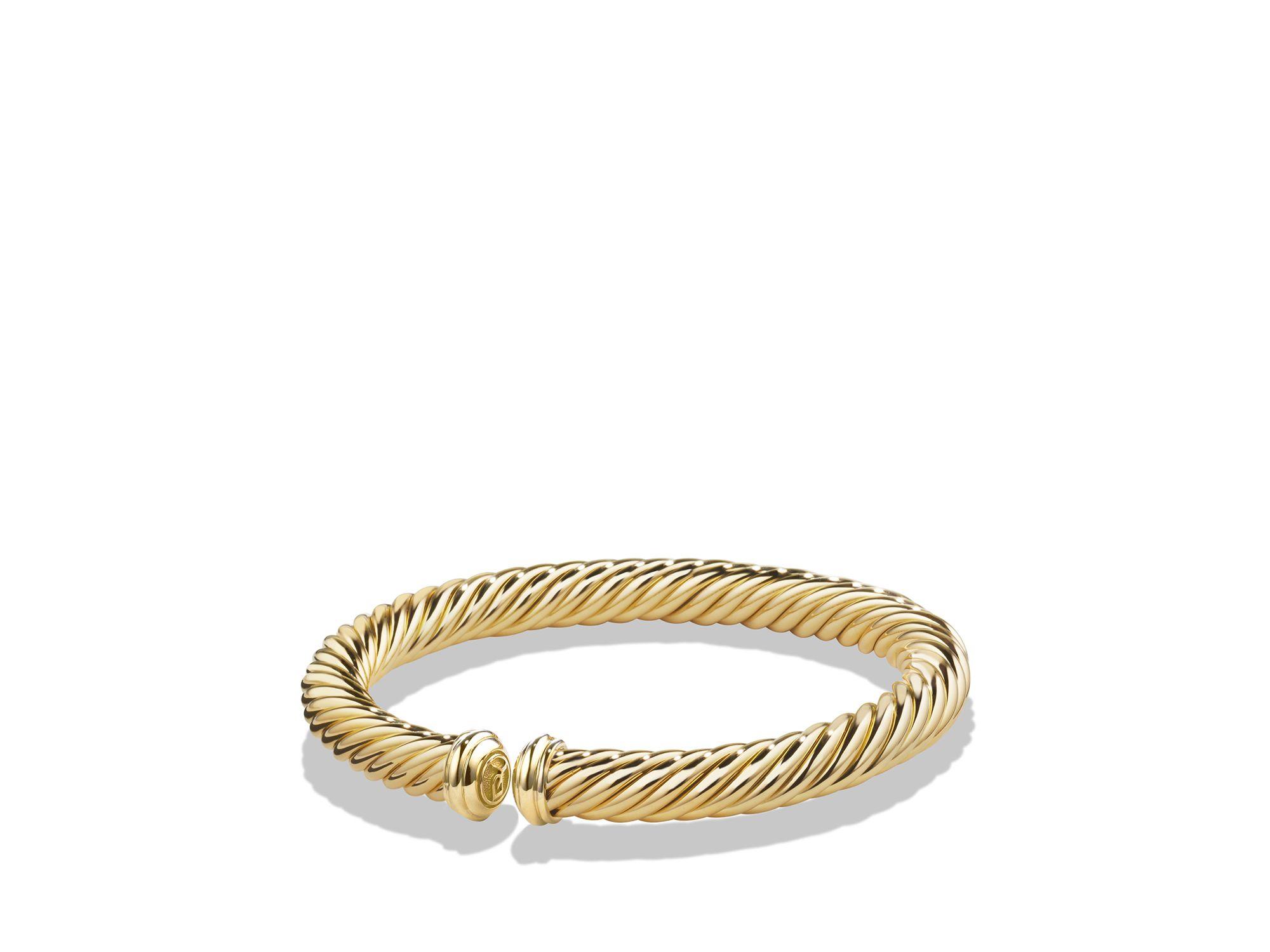 David Yurman Cable Spira Bracelet In 18k Gold In Metallic