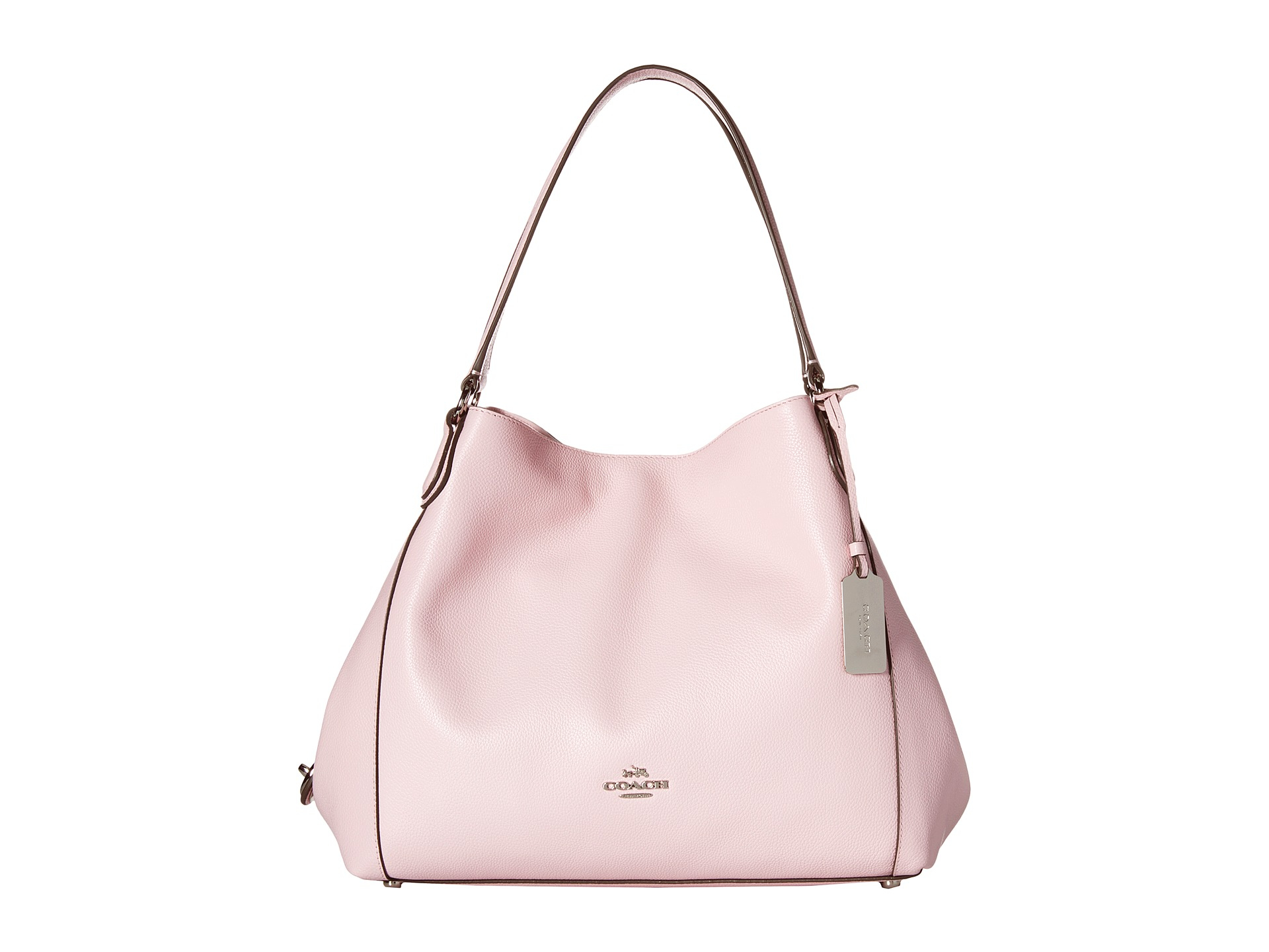 bcdc752263 Lyst - COACH Refined Pebble Leather Edie 31 Shoulder Bag in Pink