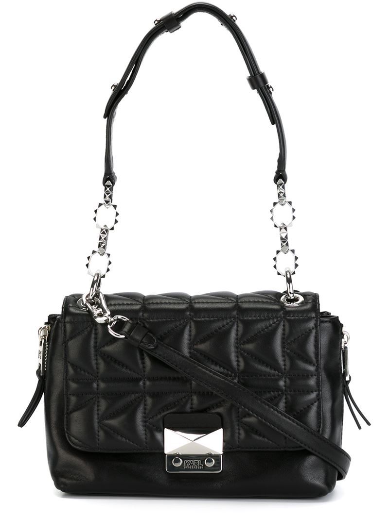 Karl Lagerfeld Quilted Crossbody Bag In Black Lyst