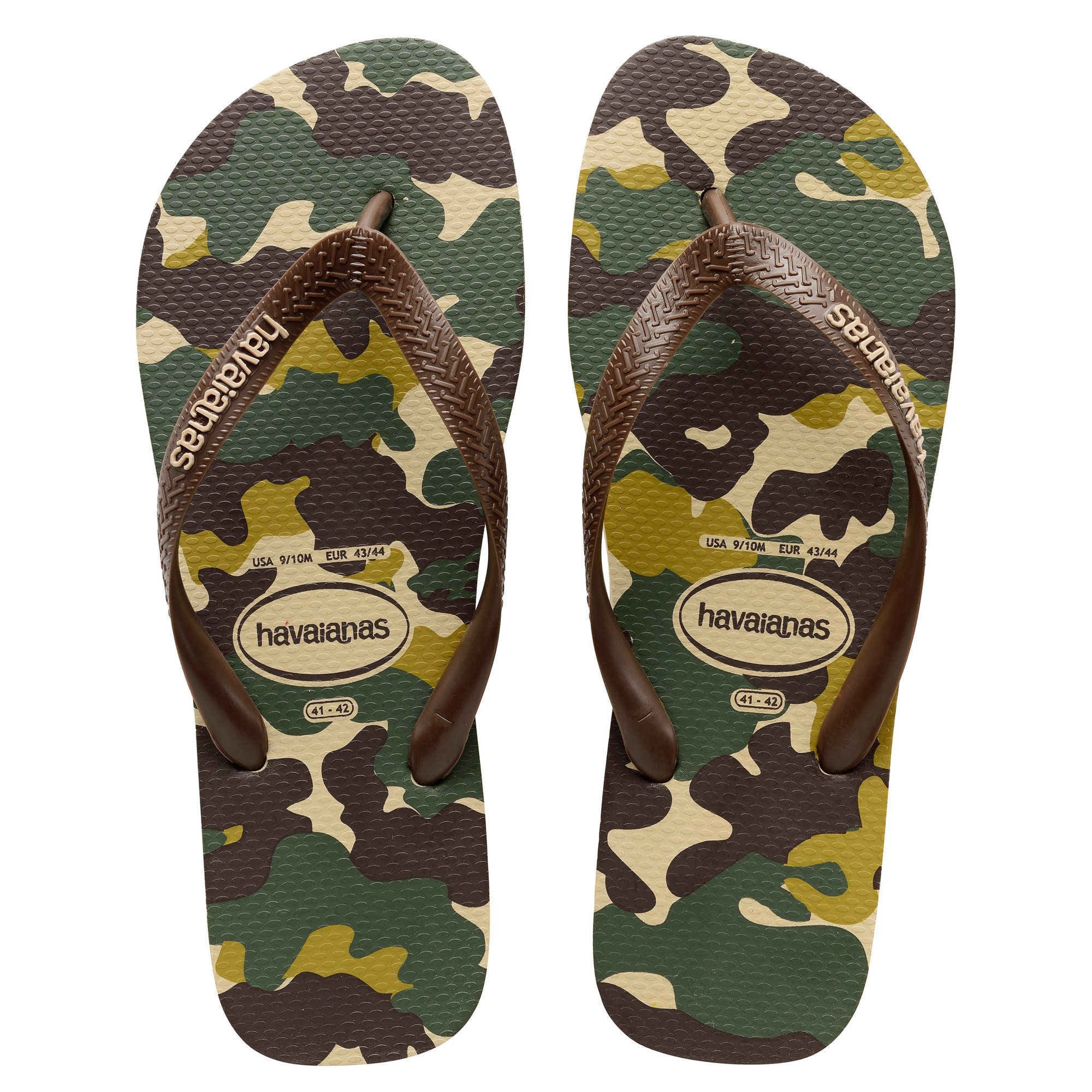 e11838165545 Havaianas Camouflage Patterned Flip Flops in Green for Men - Lyst