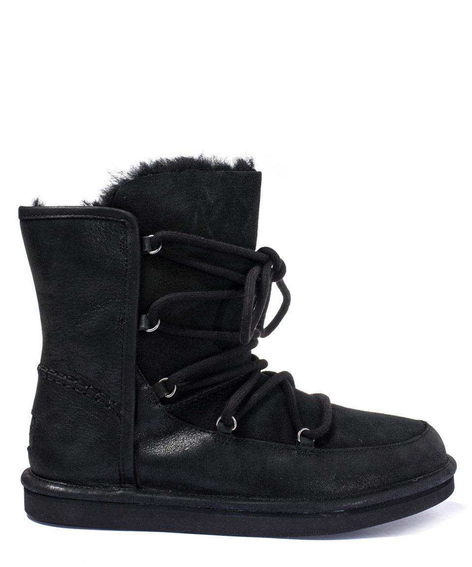6fc63f8b299 UGG Black Sheepskin And Suede Lodge Boot