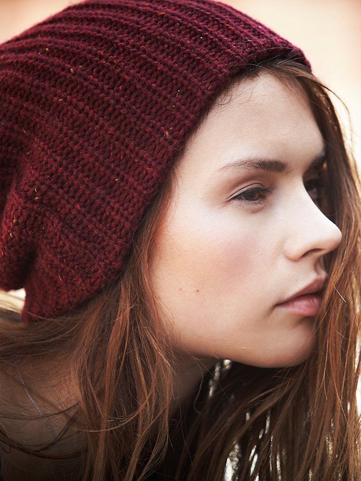Lyst - Free People Womens Capsule Slouchy Beanie in Red 75906d50f00f
