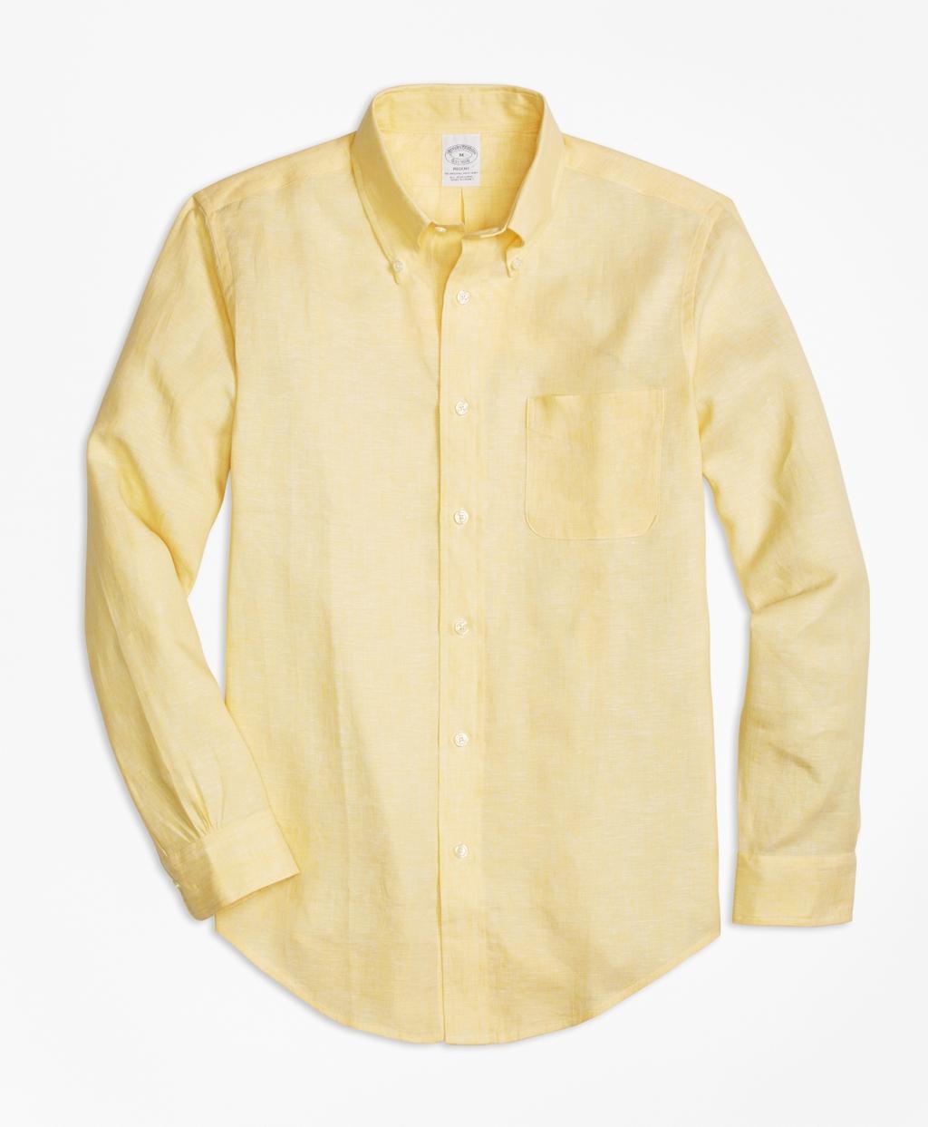 Brooks brothers regent fit irish linen sport shirt in for Irish linen dress shirts