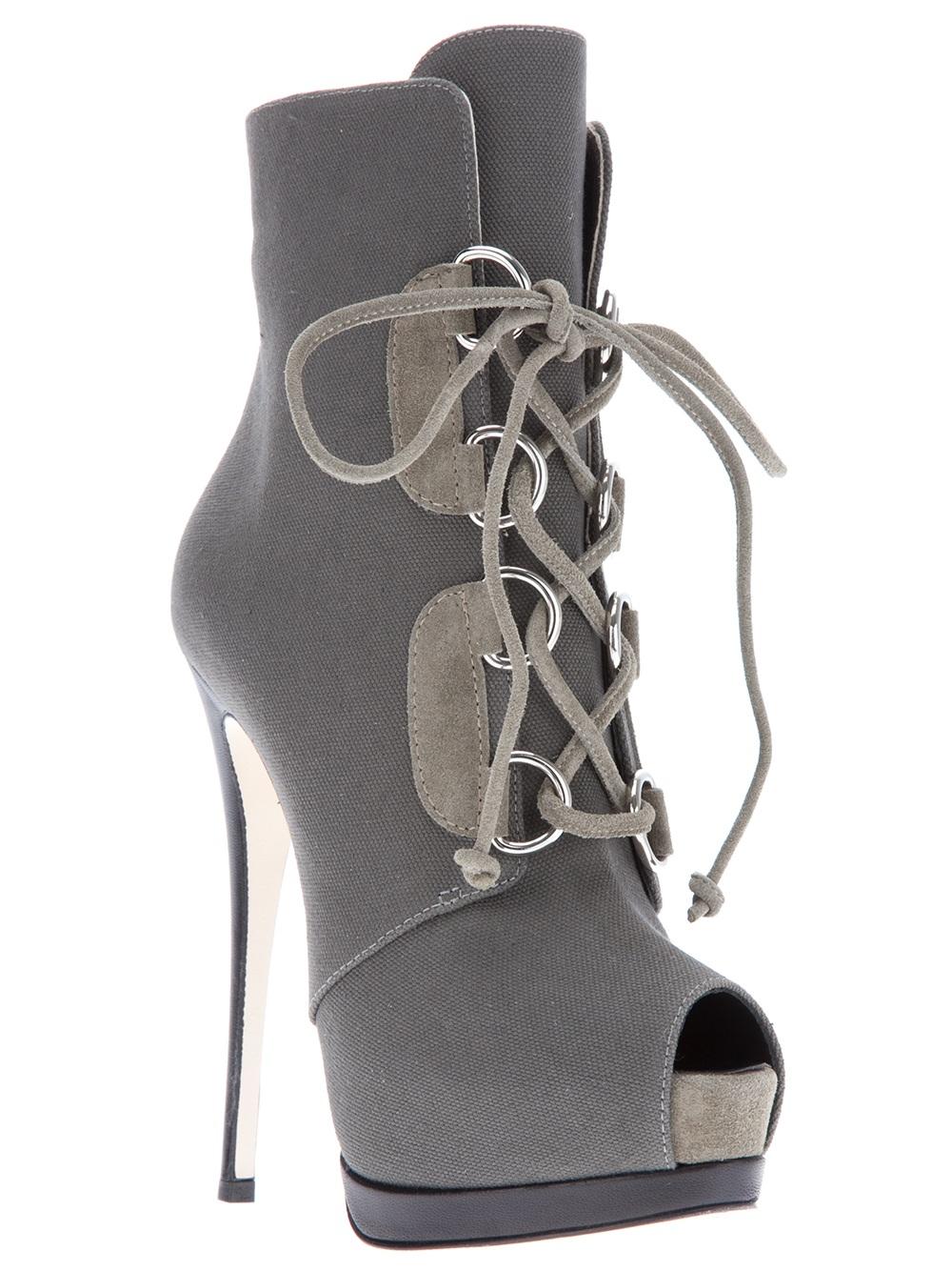 Giuseppe Zanotti Stiletto Boot In Gray Lyst