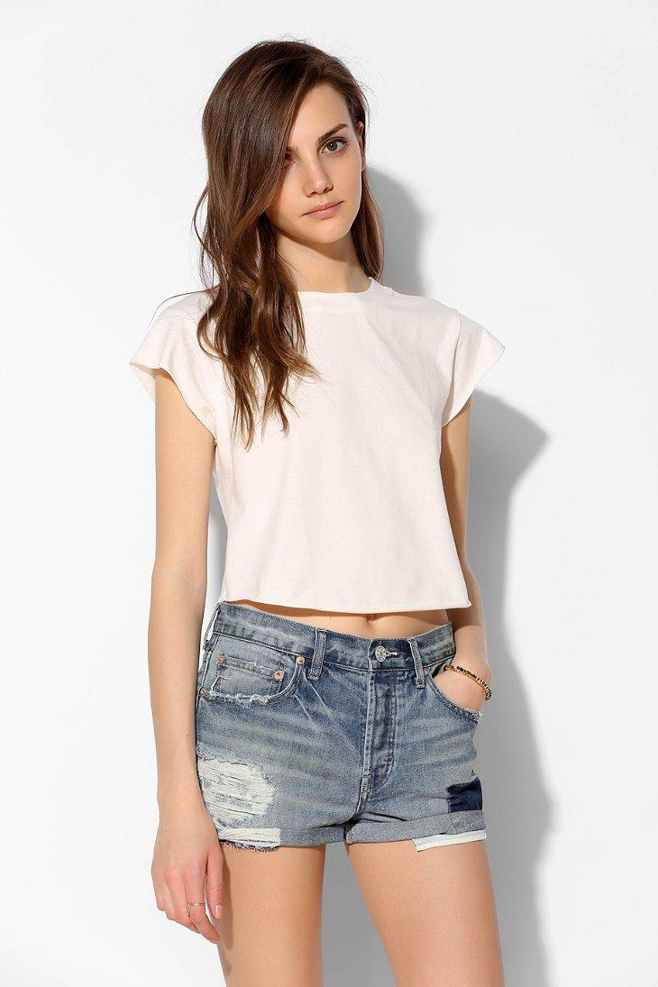 the gallery for gt dark denim shorts for women