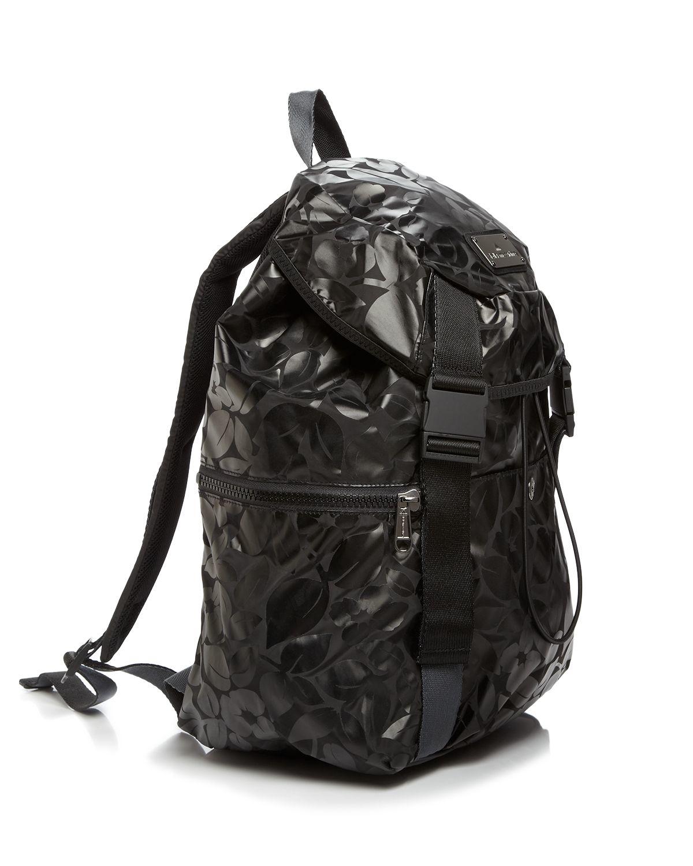 adidas by stella mccartney backpack metallic in black lyst. Black Bedroom Furniture Sets. Home Design Ideas