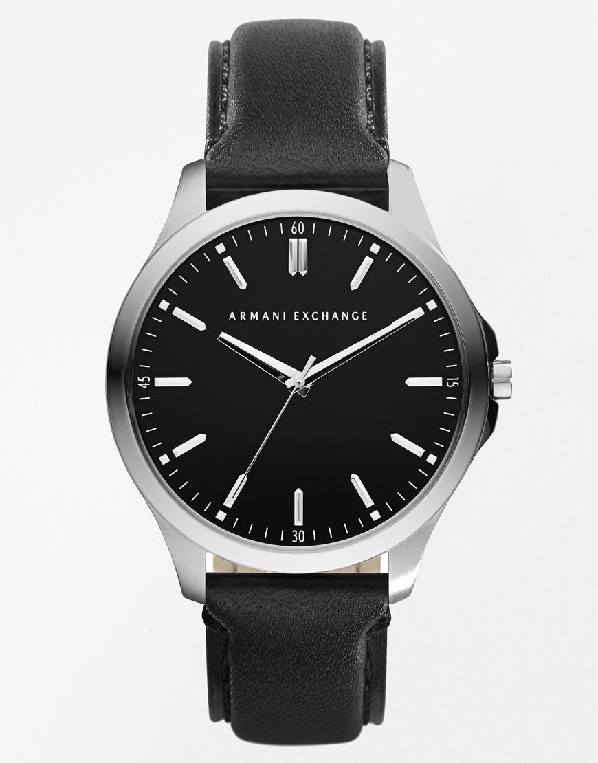 Exchange Armani watches leather pictures