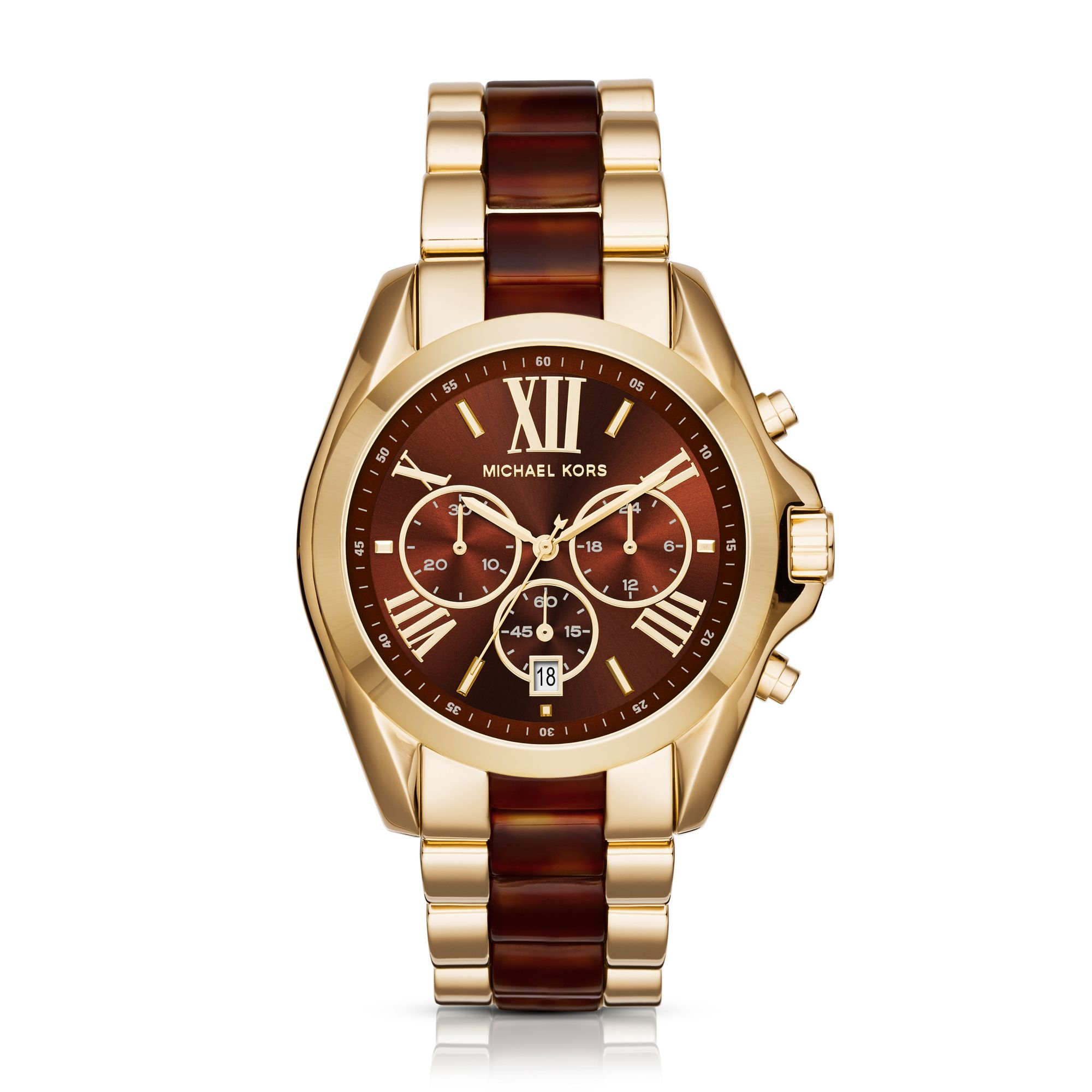 michael kors oversized gold womens watches