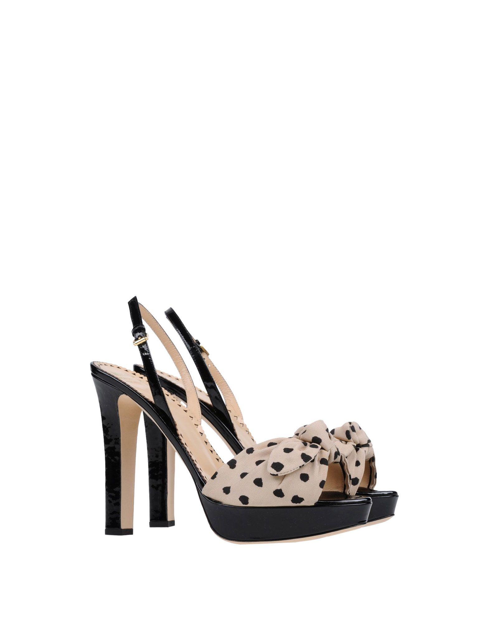 moschino cheap chic platform sandals in black beige lyst