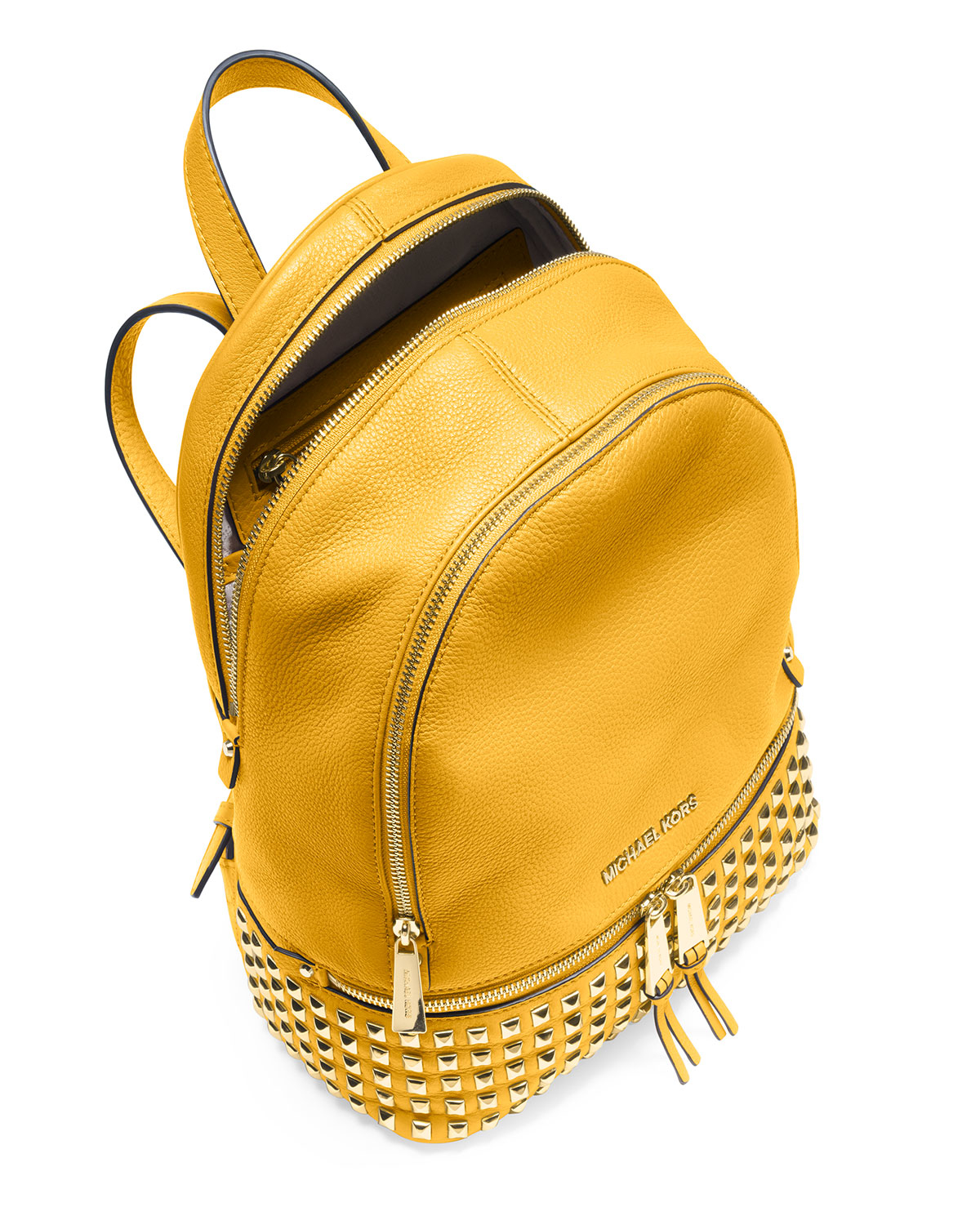 1a73d90c0a8d ... free shipping purchase lyst michael michael kors rhea small studded  leather backpack in 79d99 ec0a4 06a77