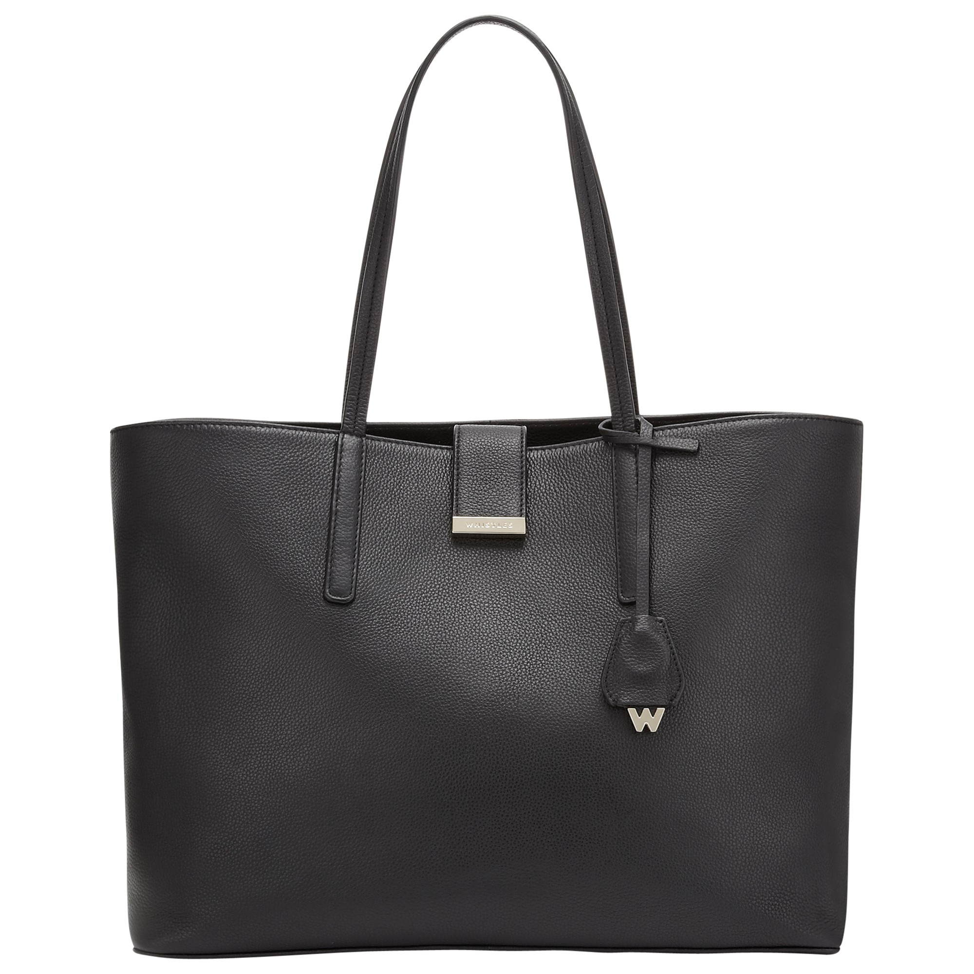 Whistles Fleet Large Leather Tote Bag In Grey Black Lyst