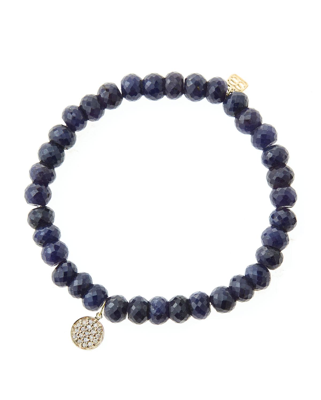 Beaded Charm Bracelets: Sydney Evan 6Mm Faceted Sapphire Beaded Bracelet