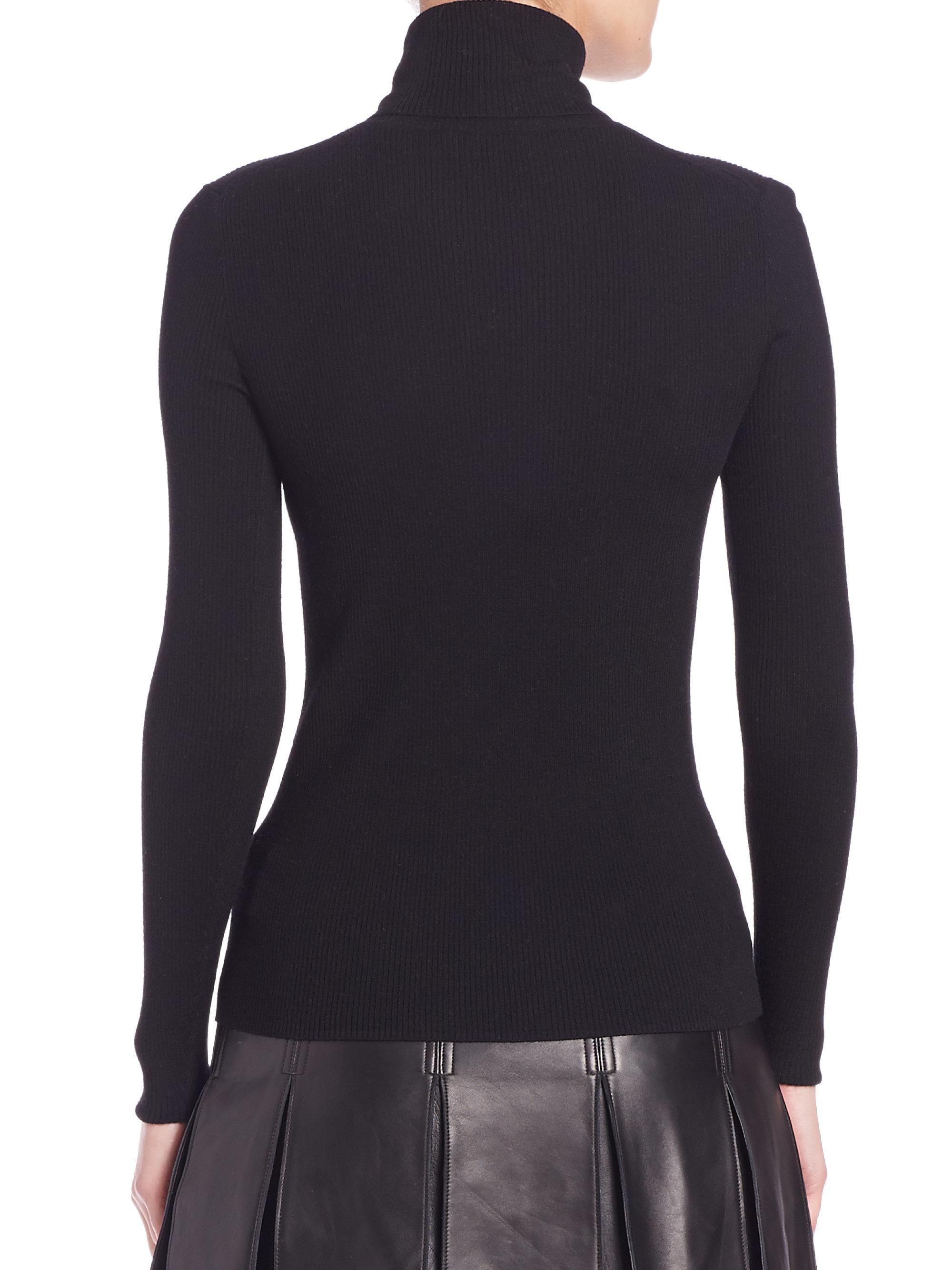Polo ralph lauren Merino Wool Turtleneck Sweater in Black | Lyst