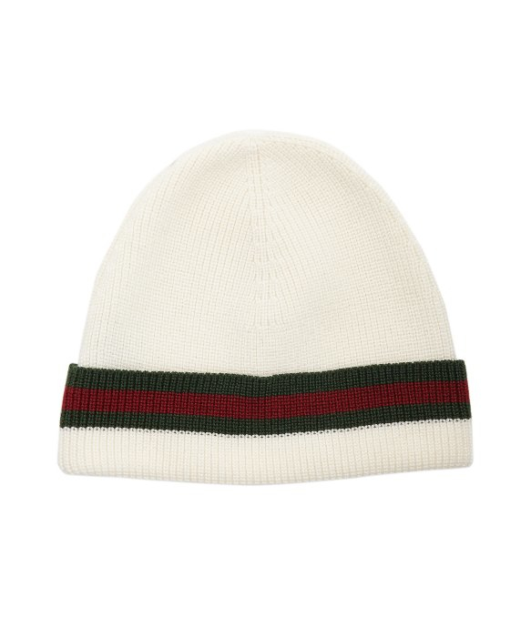 Gucci White/Beige Unisex Multi-color Wool Beanie One Size ... |White Gucci Hat
