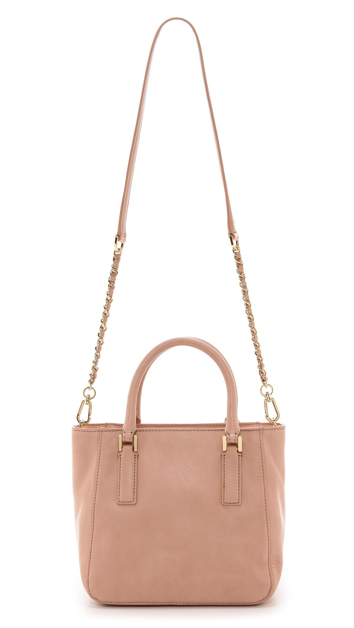 169af1127ea0 Lyst - Tory Burch Thea Mini Bucket Bag Black in Pink