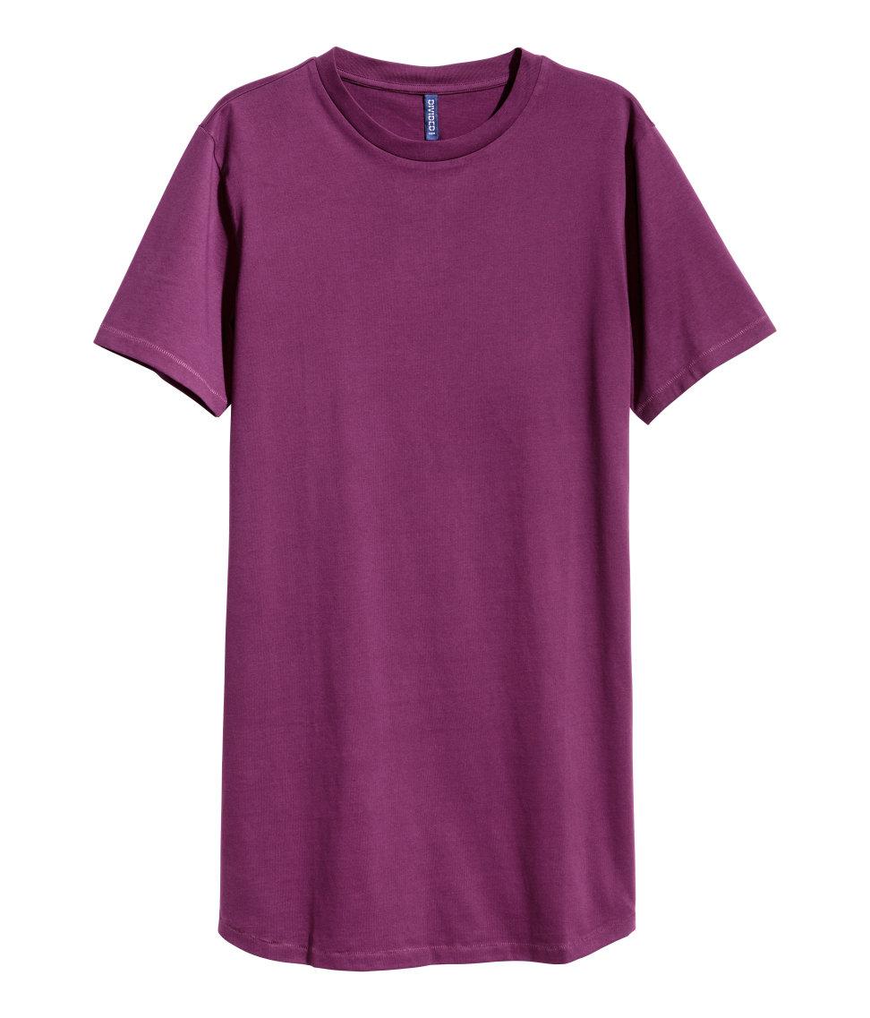 H&m Long T-shirt in Purple for Men | Lyst