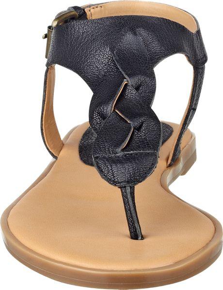Nine West Kearin Thong Sandals in Black (BLACK LEATHER) | Lyst