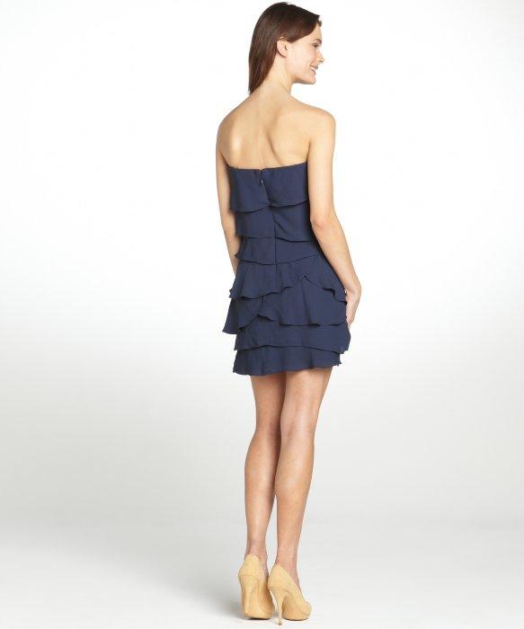 Bcbgmaxazria Dark Ink 'Ginger' Tiered Ruffle Strapless Dress in ...