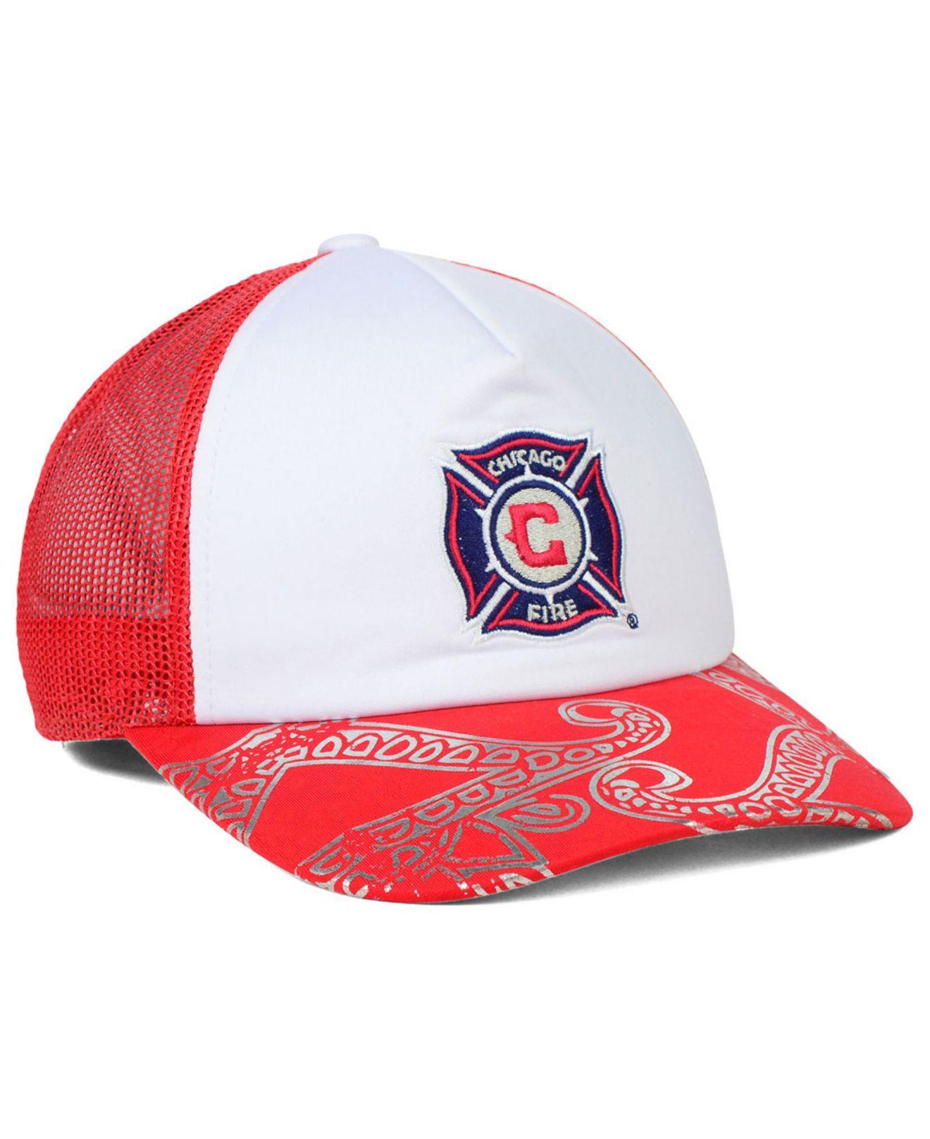 99b262c0 KTZ Red Adidas Women's Chicago Fire Trucker Cap