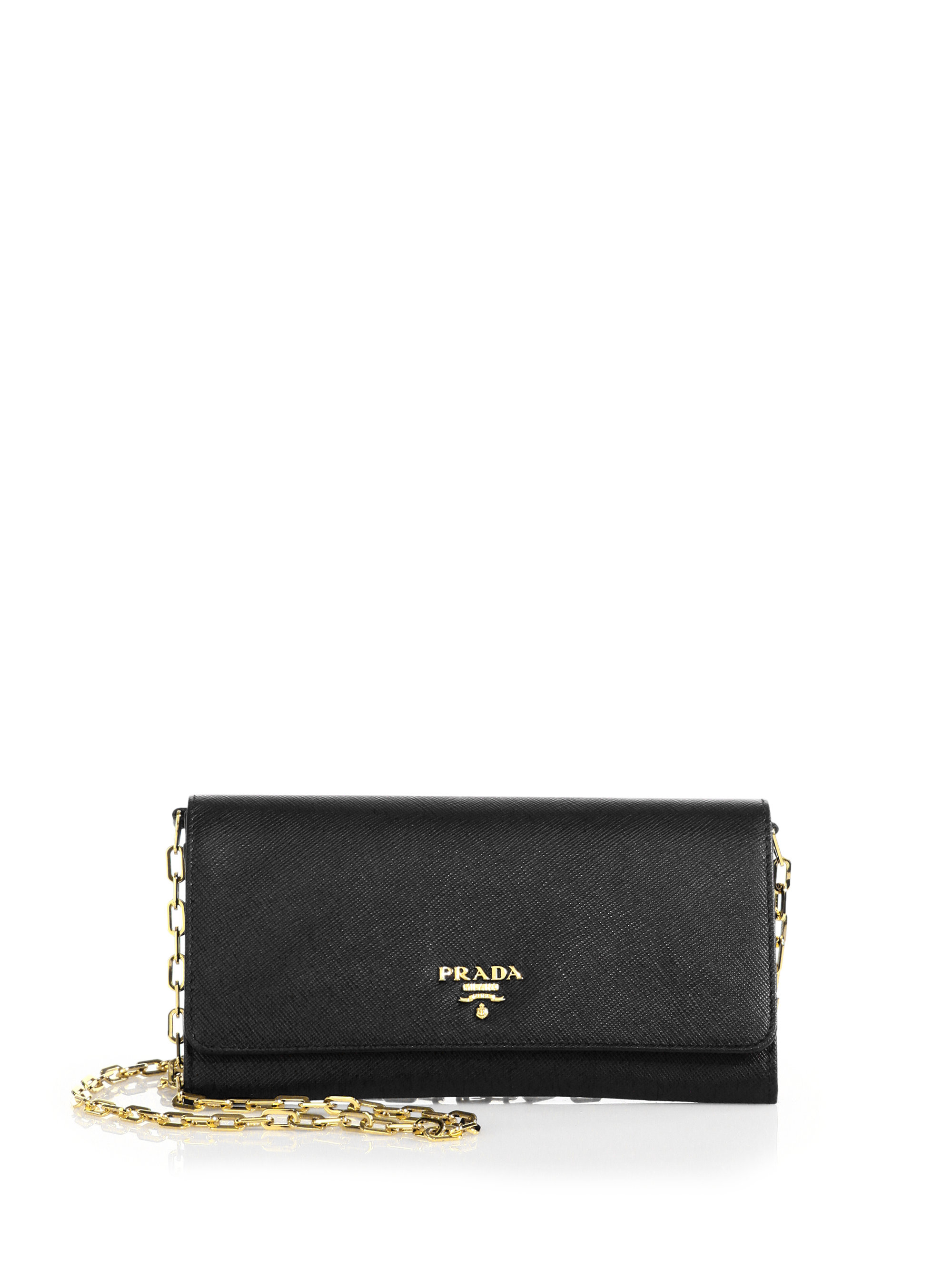 0113856e5a87 Bullseye Chain Wallet Black.Find great deals on eBay for prada wallet on  chain and prada bag.