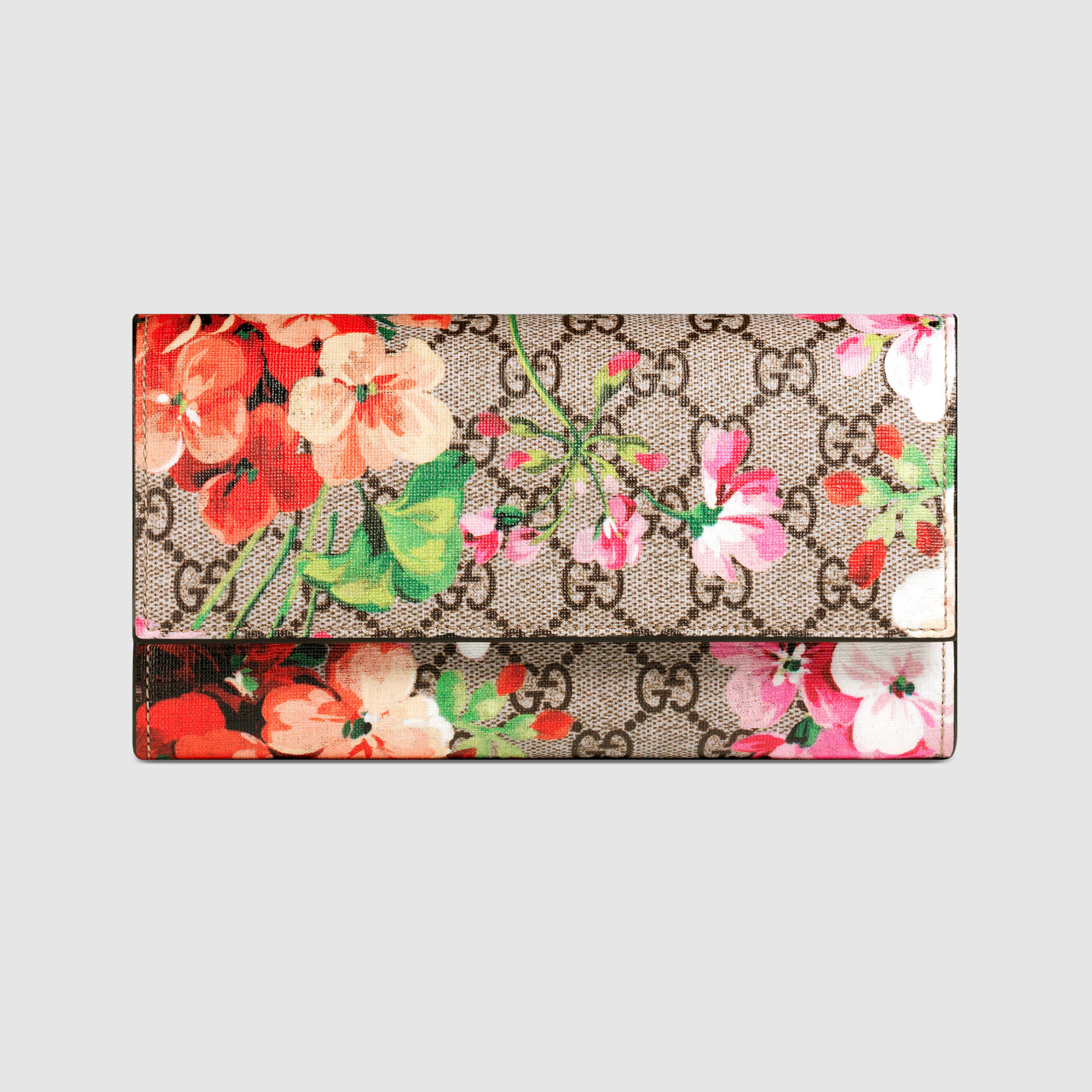 80a86163ed5c5c Gucci Gg Blooms Supreme Canvas Wallet On A Chain | Stanford Center ...