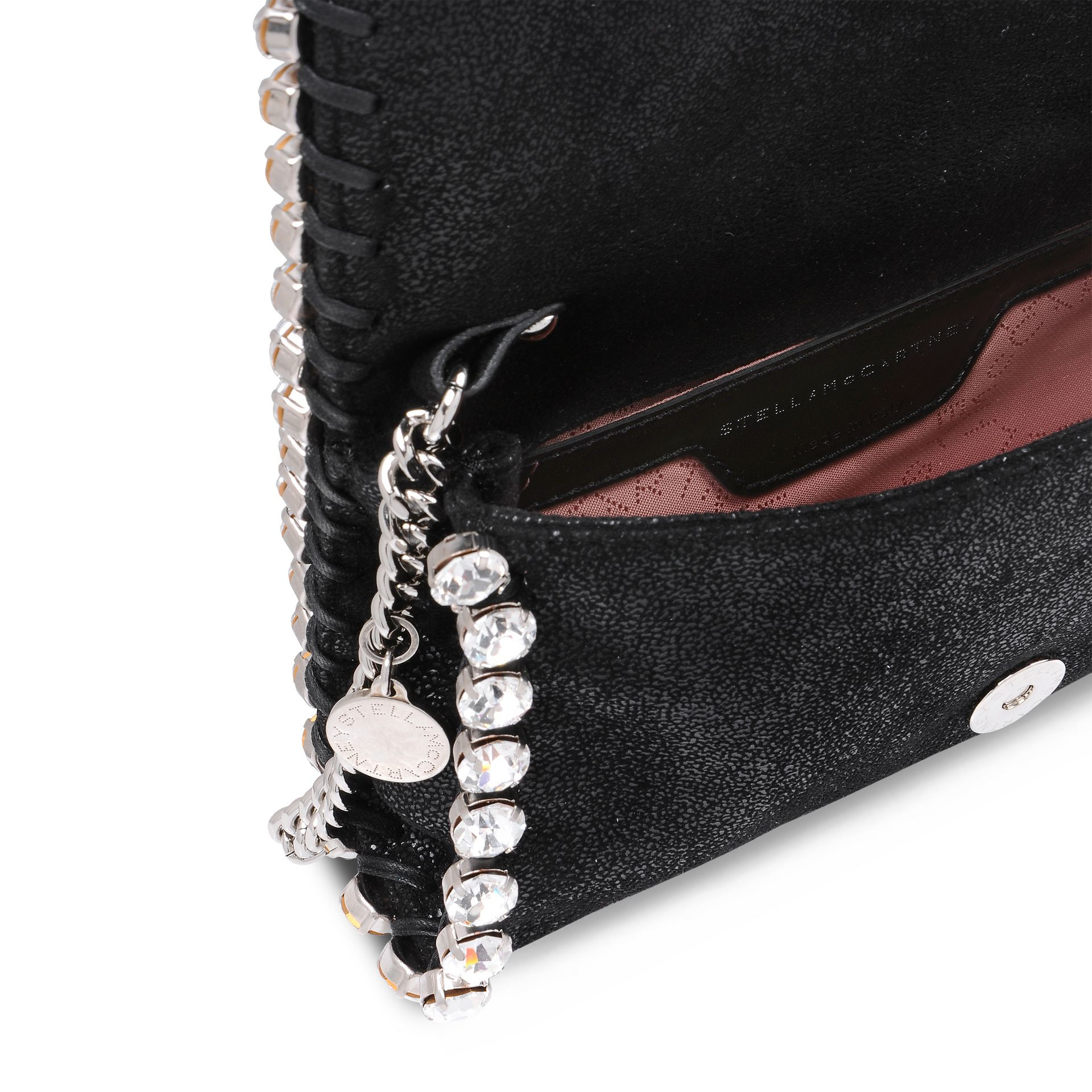 Stella McCartney Synthetic Falabella Stone Chain Cross Body Bag in Black
