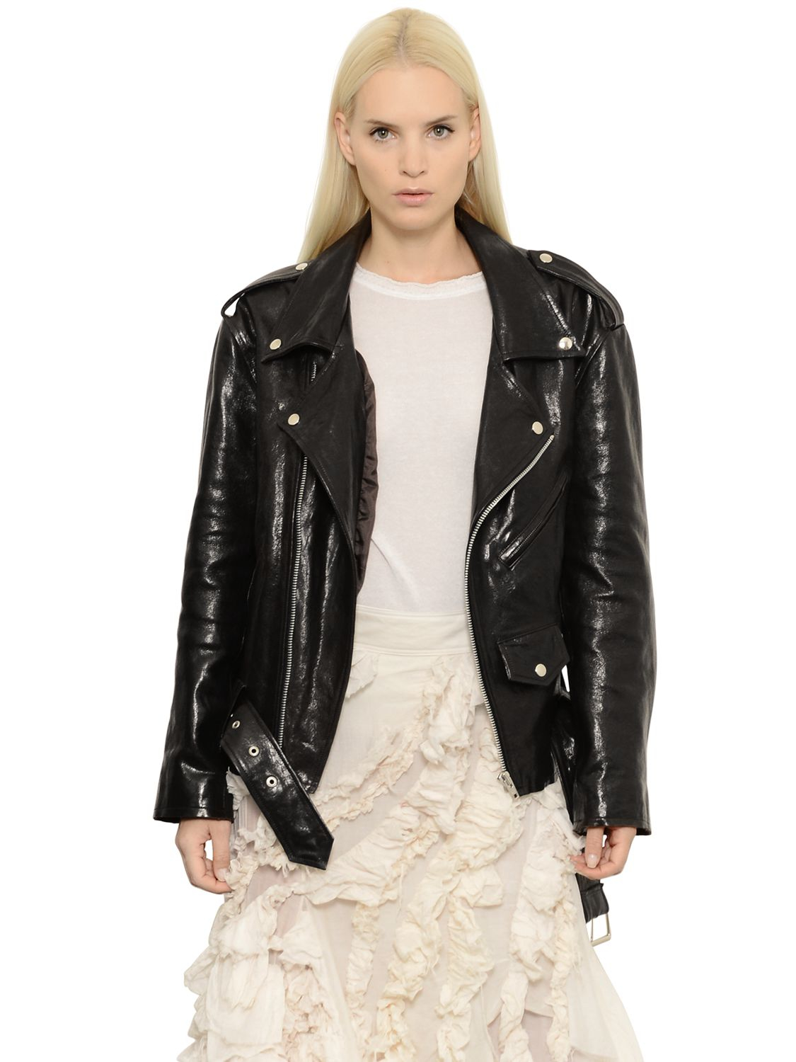 Marques'almeida Oversized Nappa Leather Biker Jacket in ...